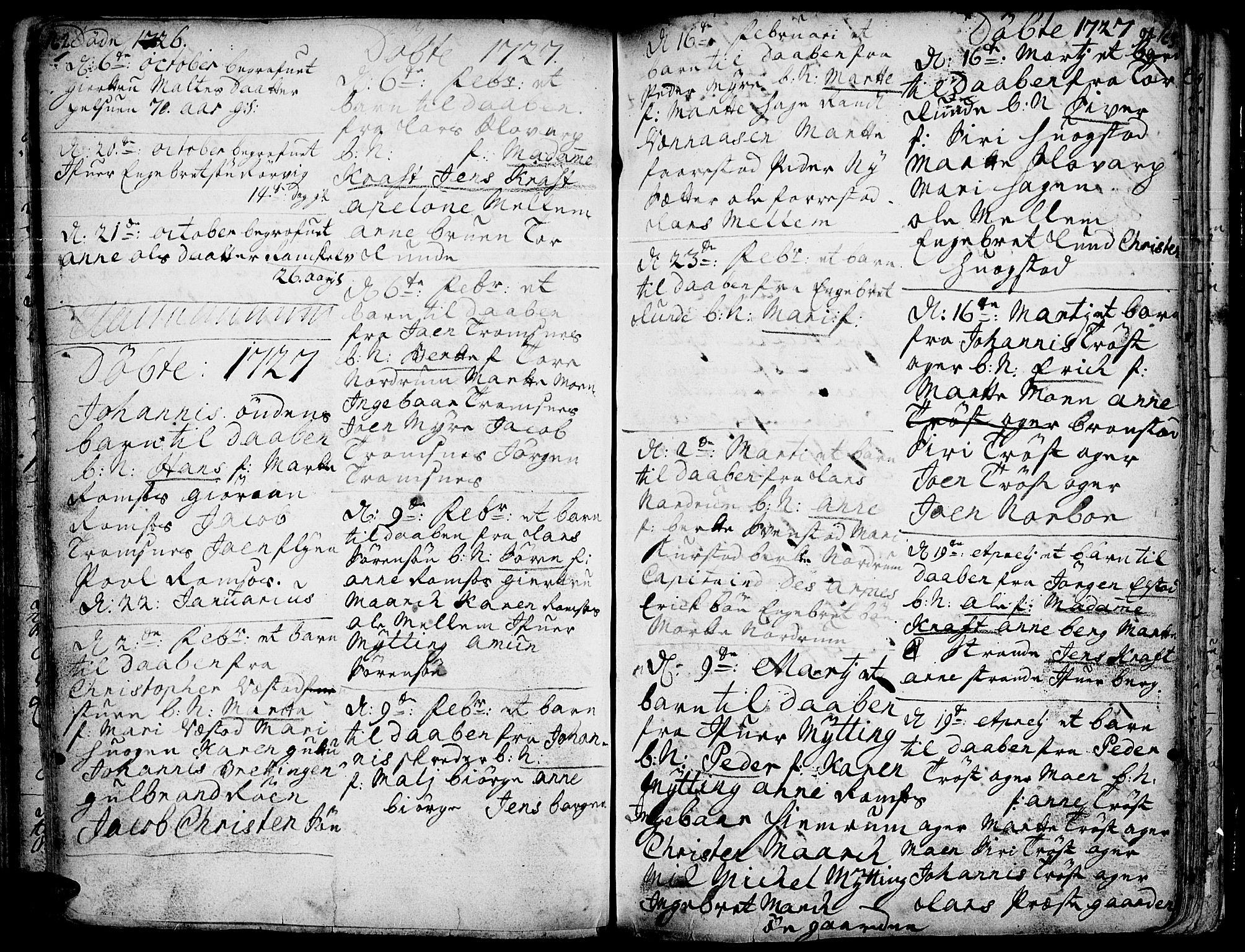SAH, Ringebu prestekontor, Ministerialbok nr. 1, 1696-1733, s. 162-163