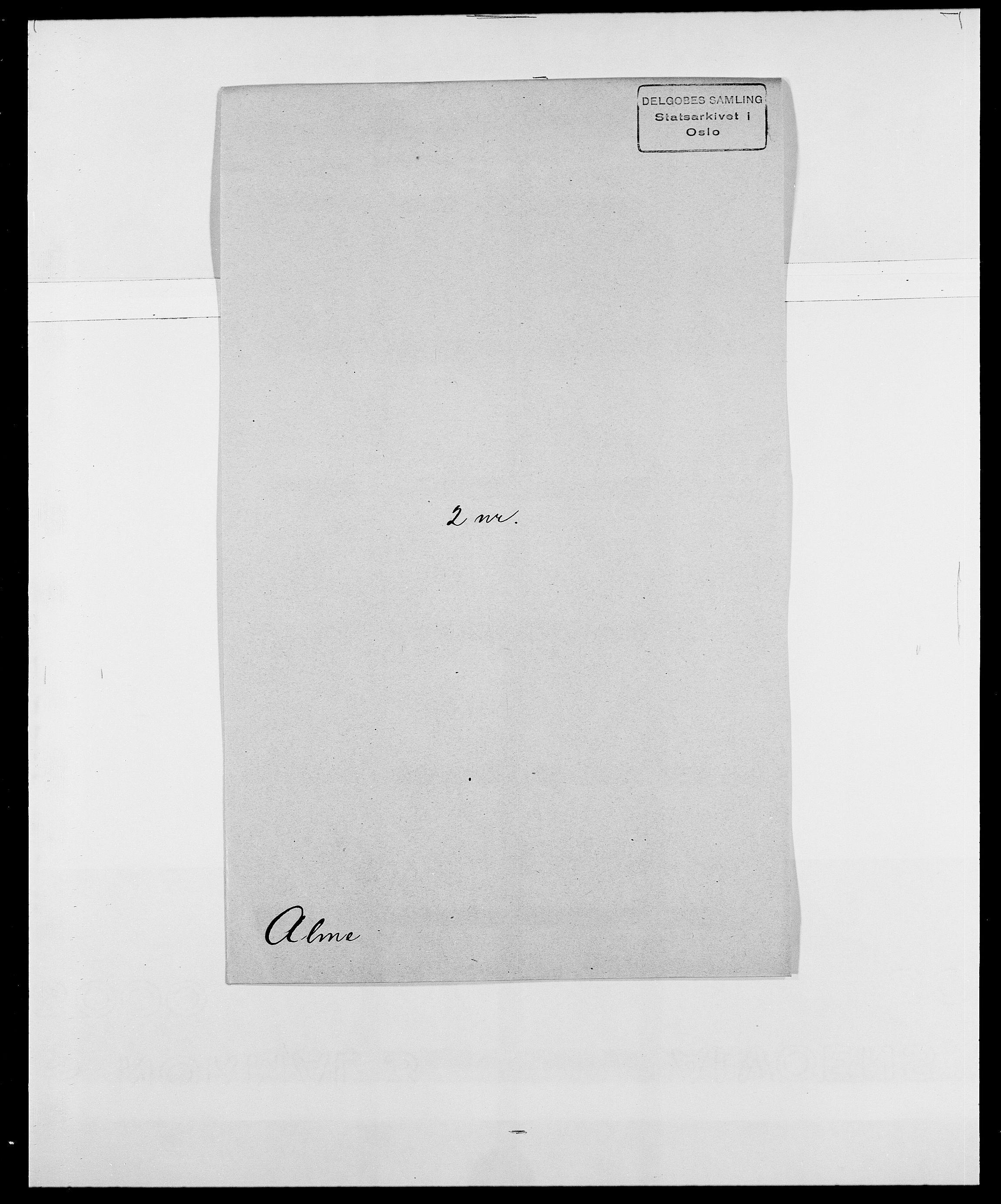 SAO, Delgobe, Charles Antoine - samling, D/Da/L0001: Aabye - Angerman, s. 437