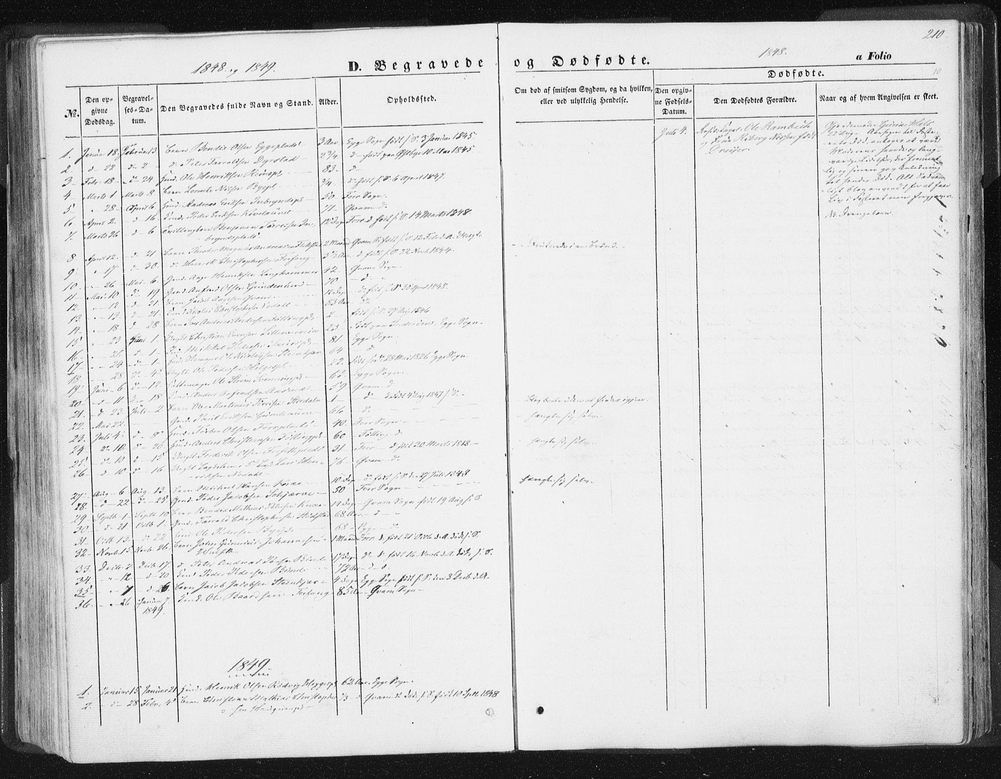 SAT, Ministerialprotokoller, klokkerbøker og fødselsregistre - Nord-Trøndelag, 746/L0446: Ministerialbok nr. 746A05, 1846-1859, s. 210