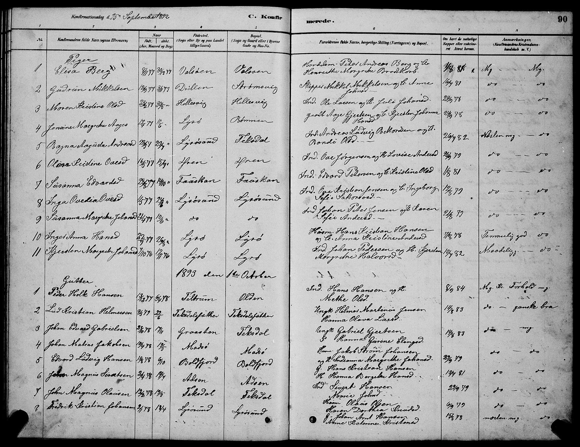 SAT, Ministerialprotokoller, klokkerbøker og fødselsregistre - Sør-Trøndelag, 654/L0665: Klokkerbok nr. 654C01, 1879-1901, s. 90