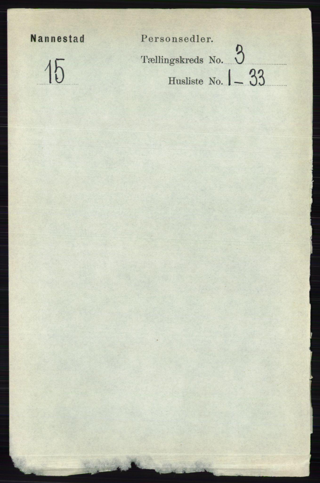RA, Folketelling 1891 for 0238 Nannestad herred, 1891, s. 1464