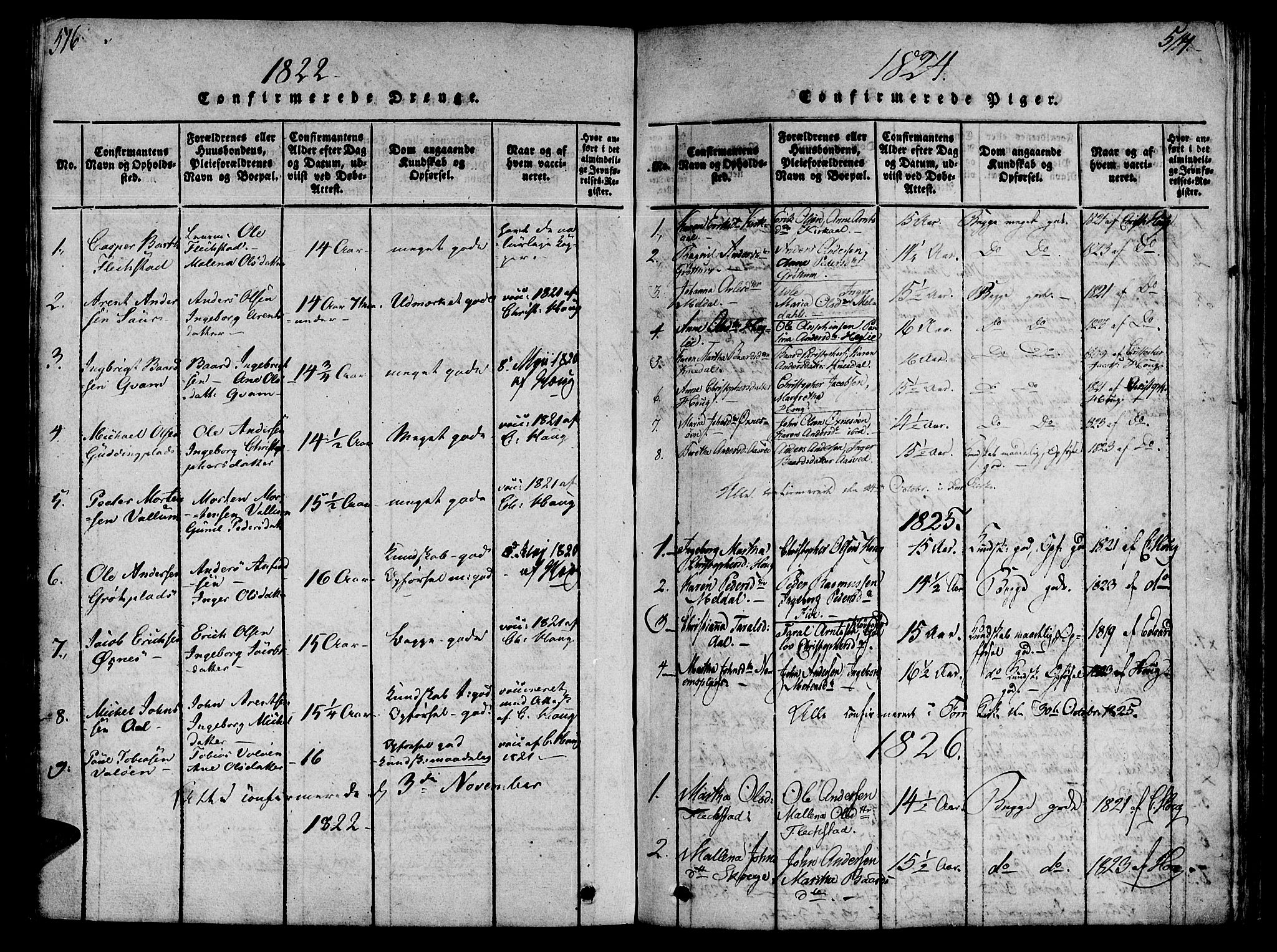 SAT, Ministerialprotokoller, klokkerbøker og fødselsregistre - Nord-Trøndelag, 746/L0441: Ministerialbok nr. 746A03 /2, 1816-1827, s. 516-517