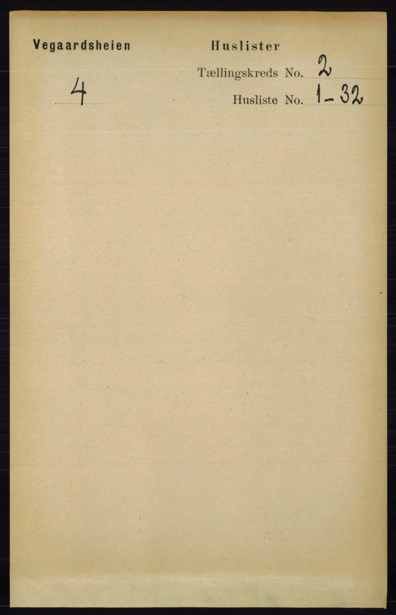 RA, Folketelling 1891 for 0912 Vegårshei herred, 1891, s. 322