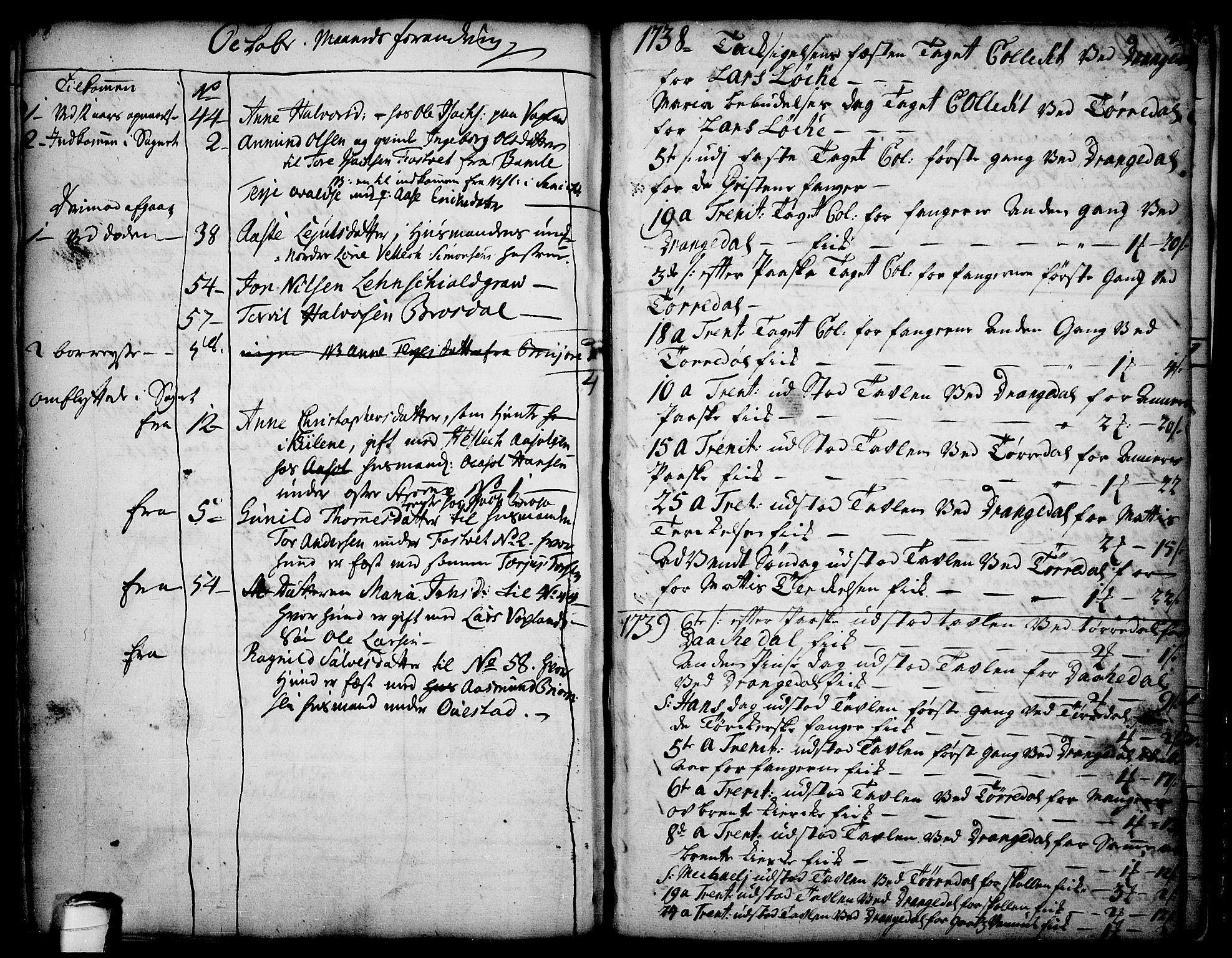 SAKO, Drangedal kirkebøker, F/Fa/L0002: Ministerialbok nr. 2, 1733-1753, s. 45-46