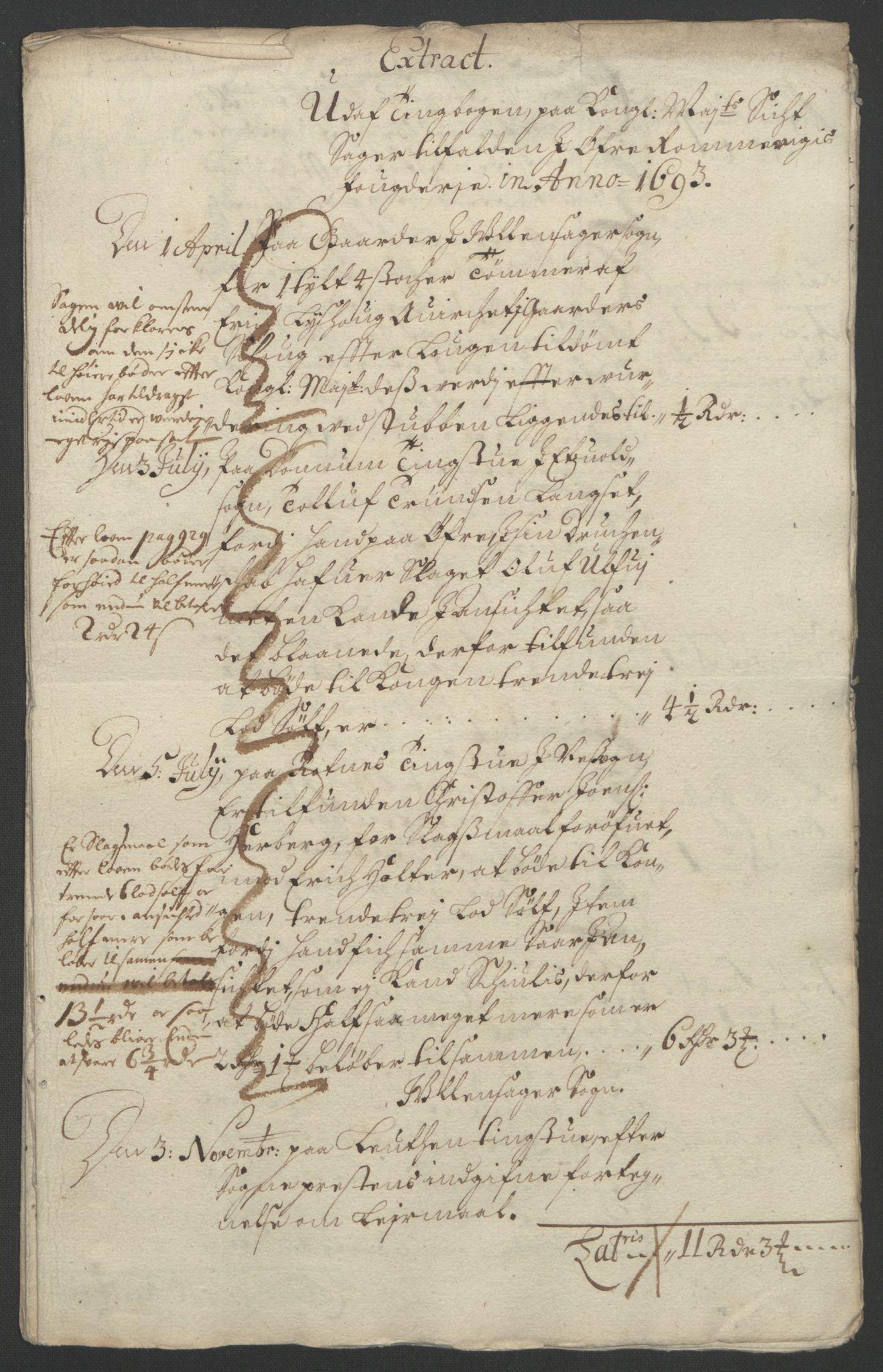 RA, Rentekammeret inntil 1814, Reviderte regnskaper, Fogderegnskap, R12/L0705: Fogderegnskap Øvre Romerike, 1693, s. 25