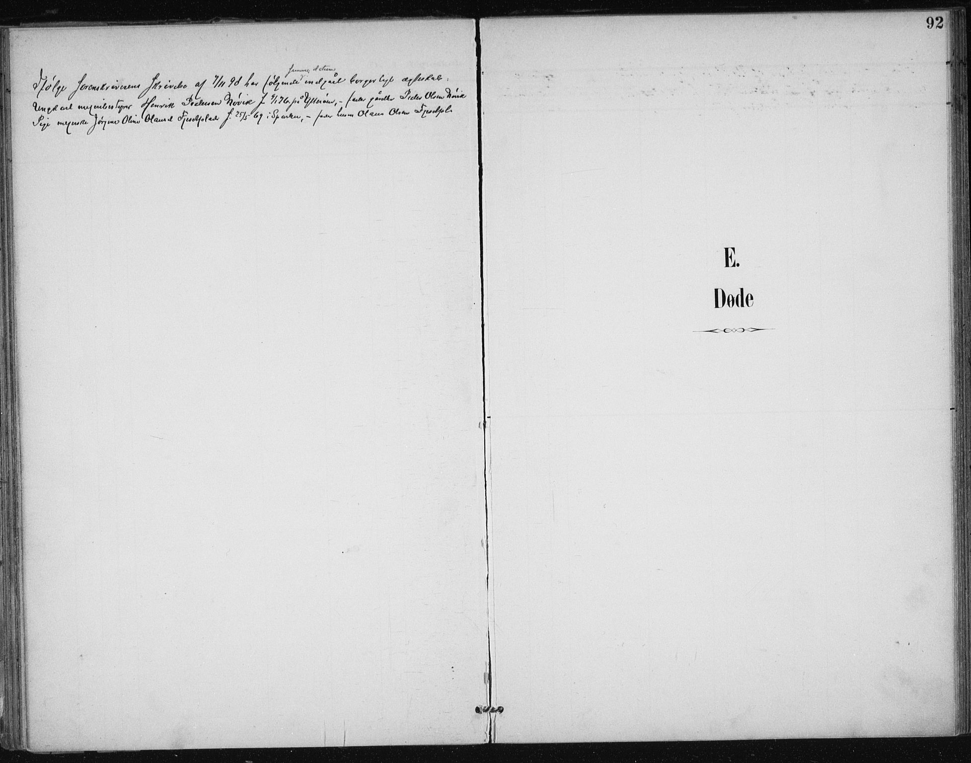 SAT, Ministerialprotokoller, klokkerbøker og fødselsregistre - Sør-Trøndelag, 612/L0380: Ministerialbok nr. 612A12, 1898-1907, s. 92