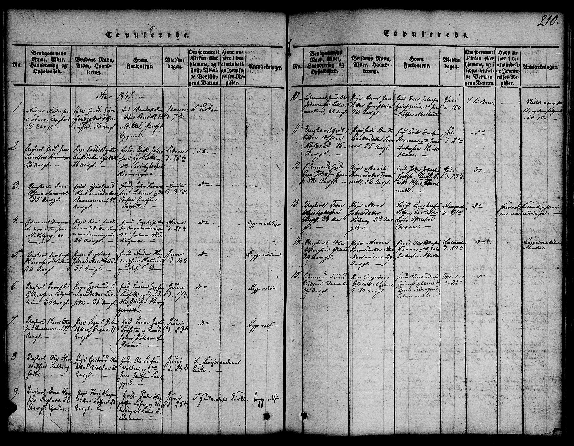 SAT, Ministerialprotokoller, klokkerbøker og fødselsregistre - Sør-Trøndelag, 691/L1092: Klokkerbok nr. 691C03, 1816-1852, s. 210