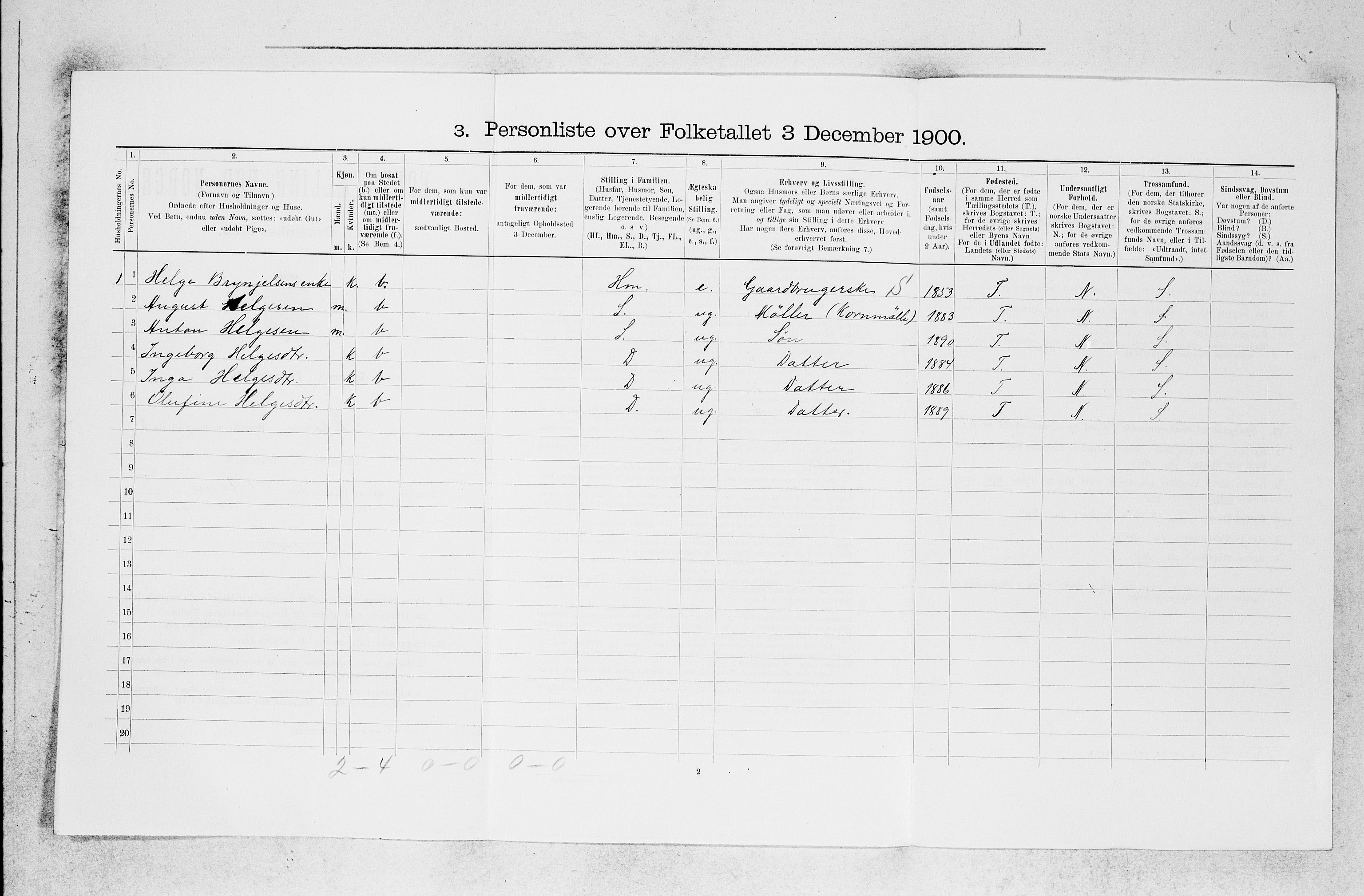 SAB, Folketelling 1900 for 1247 Askøy herred, 1900, s. 1144