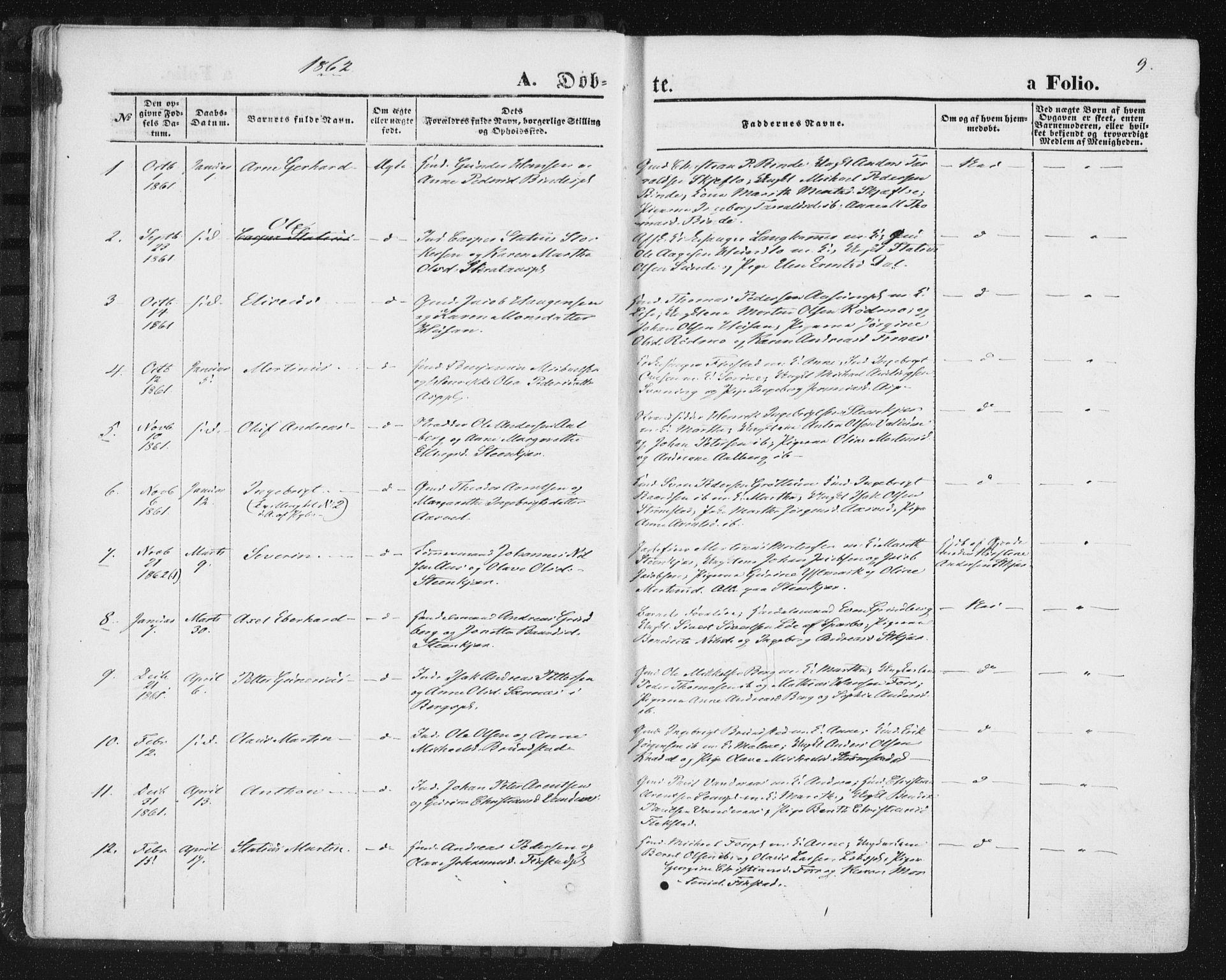 SAT, Ministerialprotokoller, klokkerbøker og fødselsregistre - Nord-Trøndelag, 746/L0447: Ministerialbok nr. 746A06, 1860-1877, s. 9