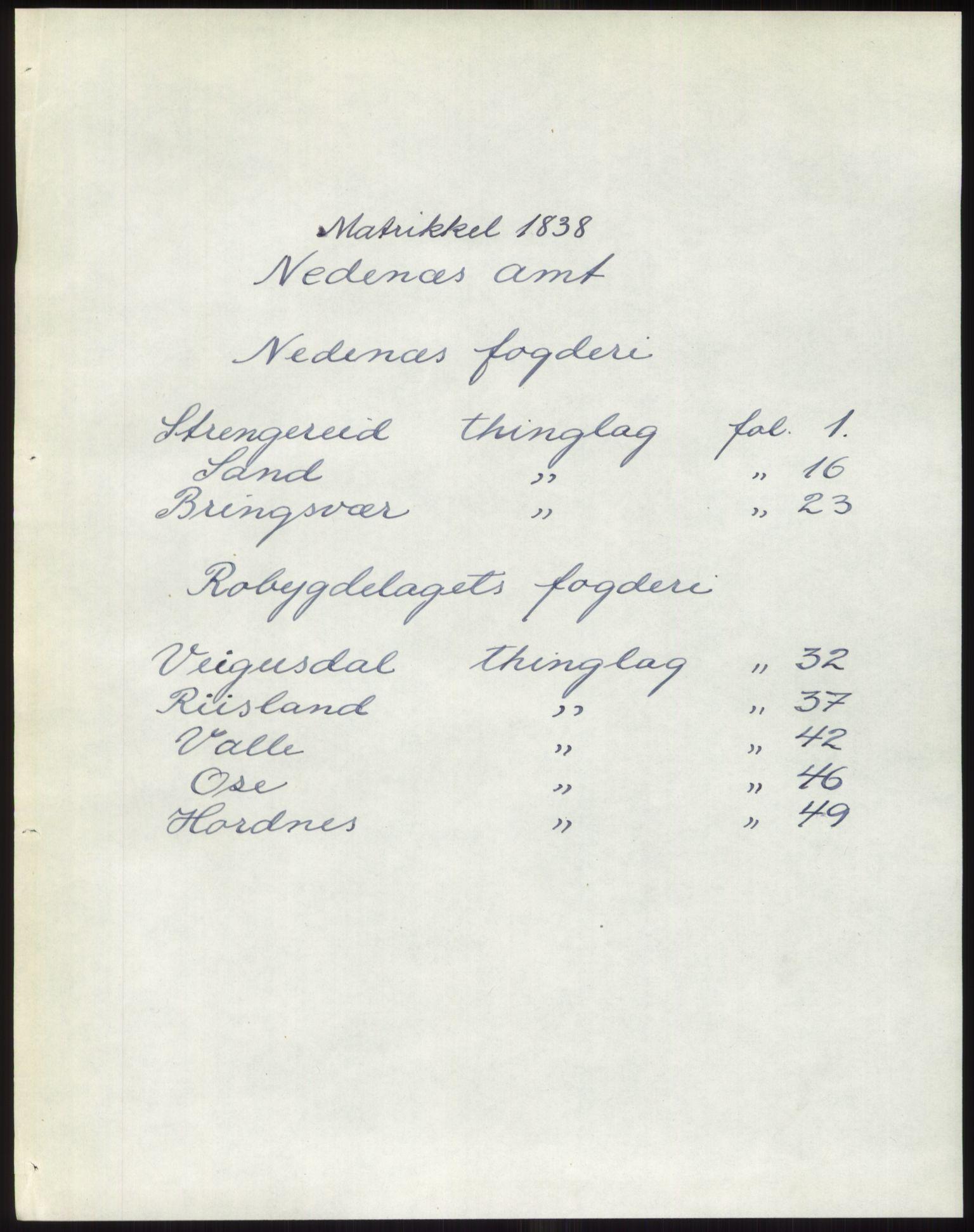 PUBL, Andre publikasjoner, -/Bind 8: Nedenes amt, 1838, s. 1