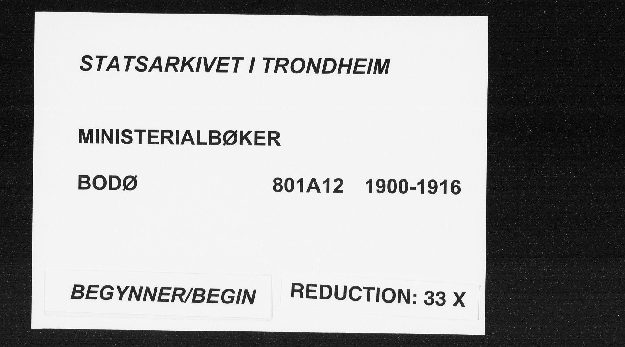 SAT, Ministerialprotokoller, klokkerbøker og fødselsregistre - Nordland, 801/L0012: Ministerialbok nr. 801A12, 1900-1916