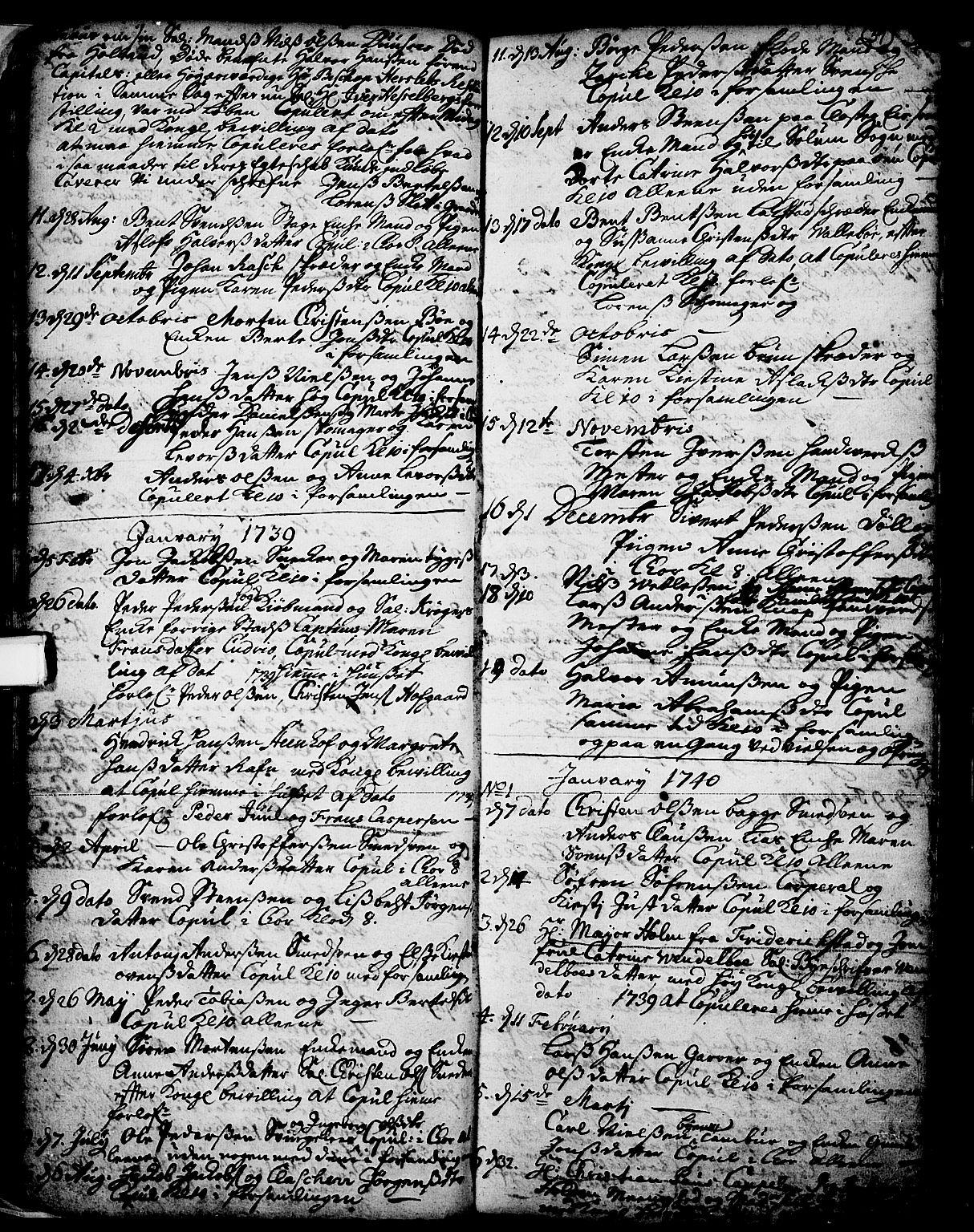 SAKO, Skien kirkebøker, F/Fa/L0002: Ministerialbok nr. 2, 1716-1757, s. 39