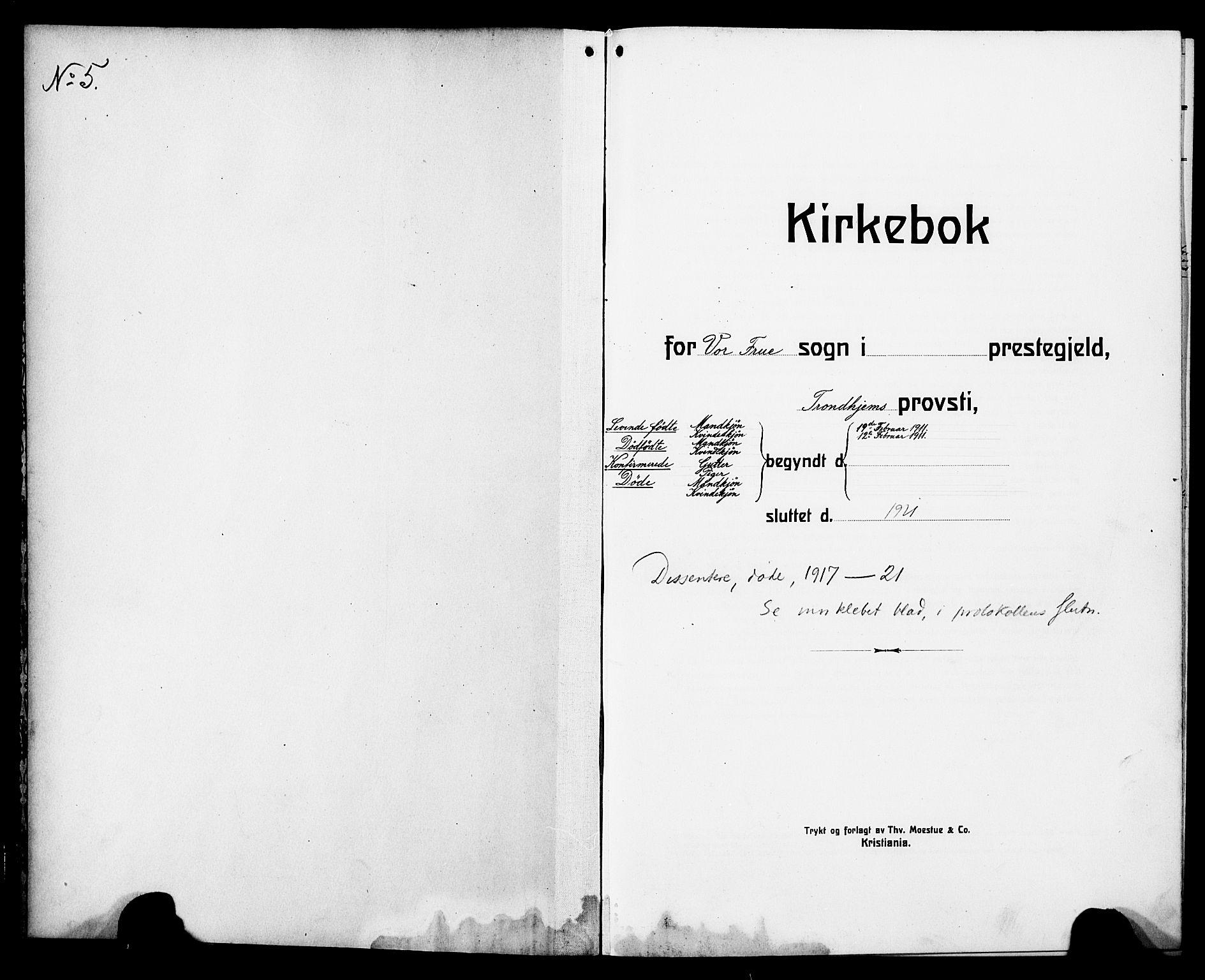 SAT, Ministerialprotokoller, klokkerbøker og fødselsregistre - Sør-Trøndelag, 602/L0147: Klokkerbok nr. 602C15, 1911-1924