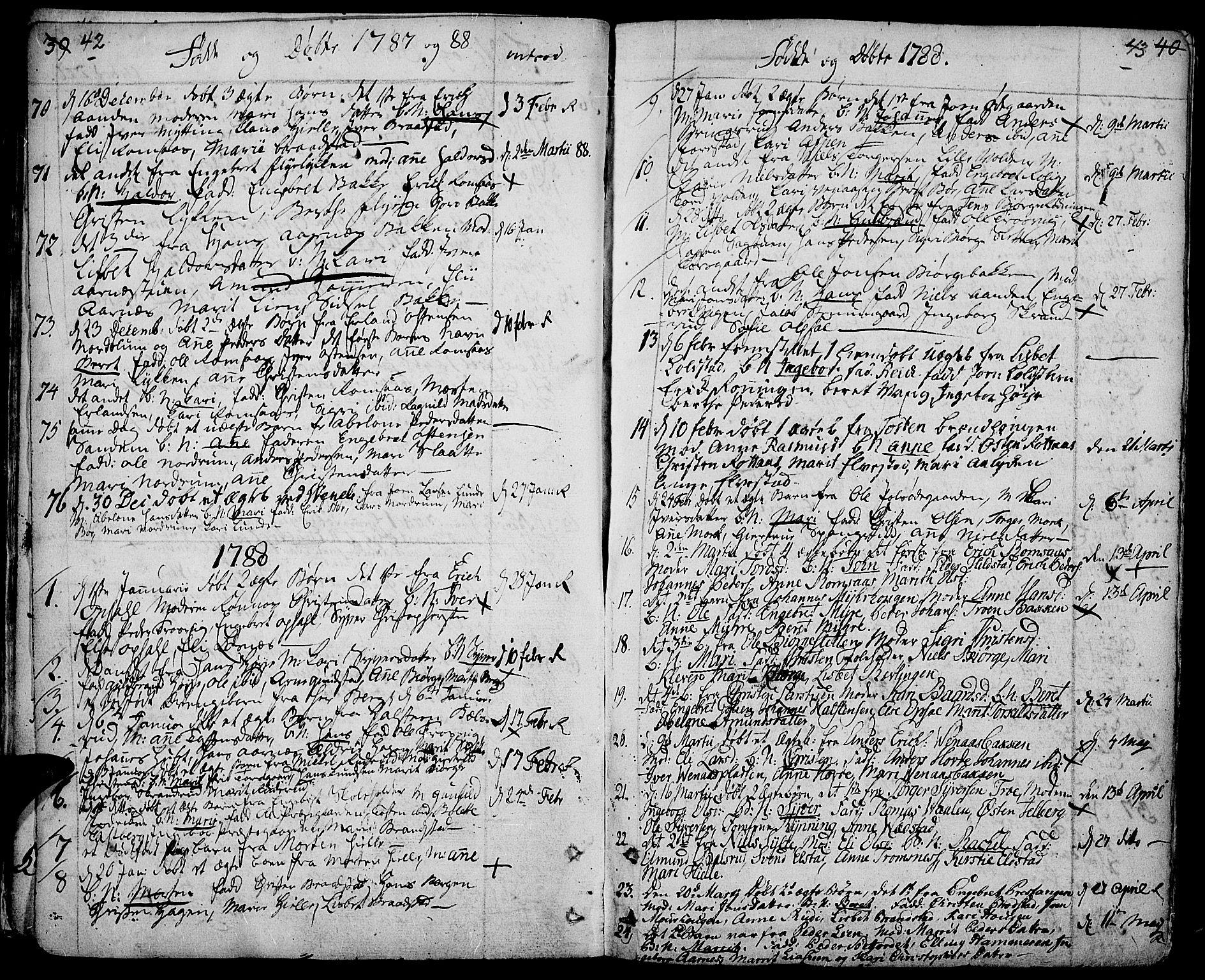SAH, Ringebu prestekontor, Ministerialbok nr. 3, 1781-1820, s. 42-43