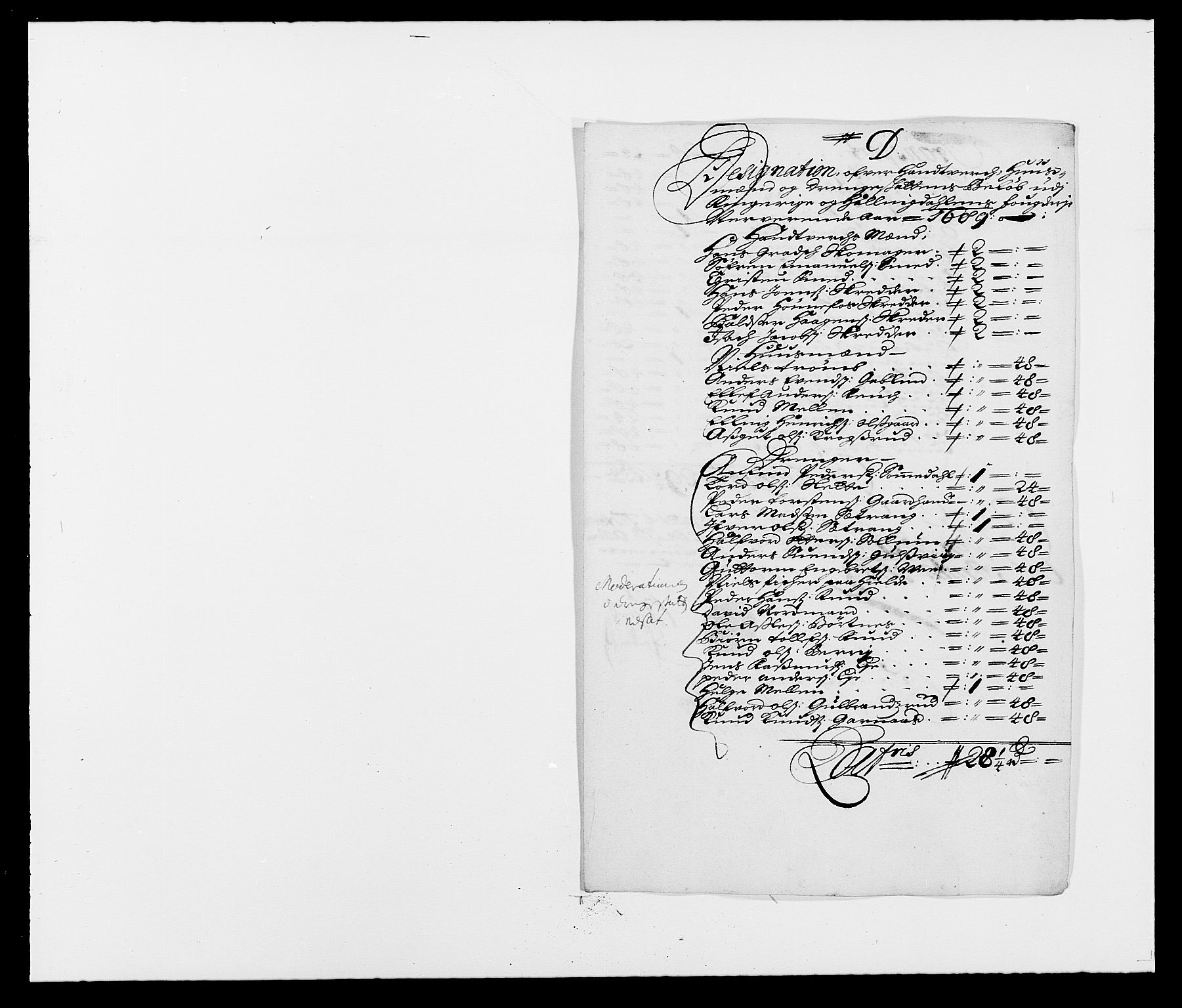 RA, Rentekammeret inntil 1814, Reviderte regnskaper, Fogderegnskap, R21/L1447: Fogderegnskap Ringerike og Hallingdal, 1687-1689, s. 303