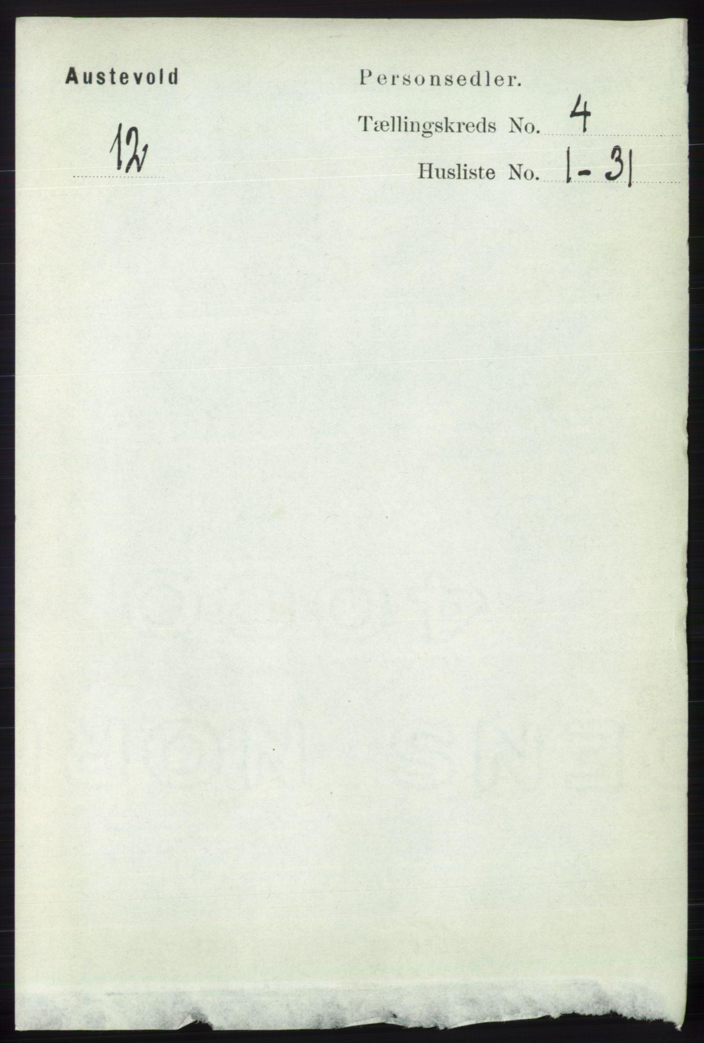 RA, Folketelling 1891 for 1244 Austevoll herred, 1891, s. 1413