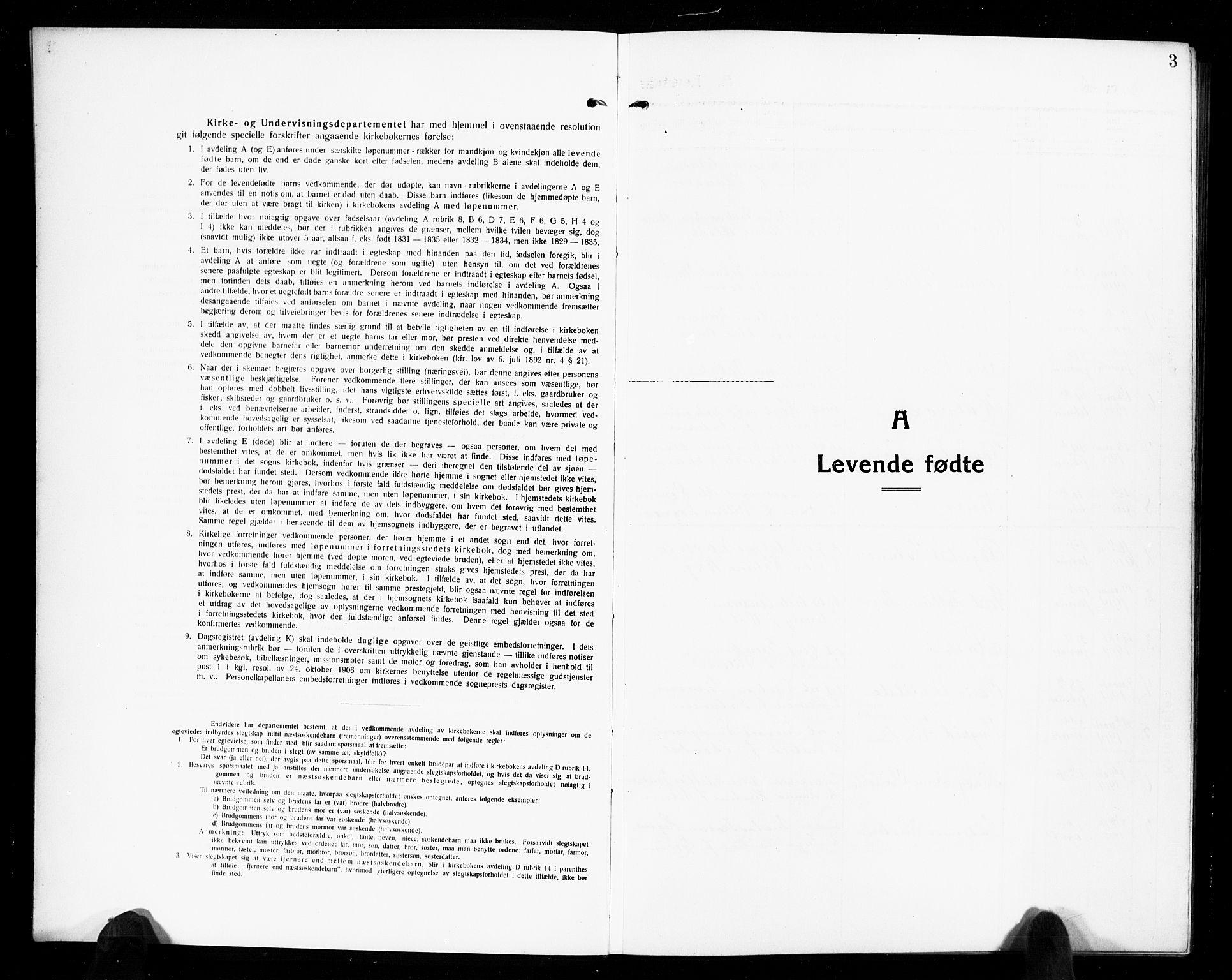 SAKO, Solum kirkebøker, G/Gb/L0006: Klokkerbok nr. II 6, 1915-1927, s. 3