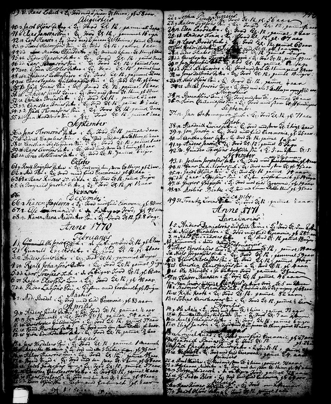 SAKO, Skien kirkebøker, G/Ga/L0001: Klokkerbok nr. 1, 1756-1791, s. 146
