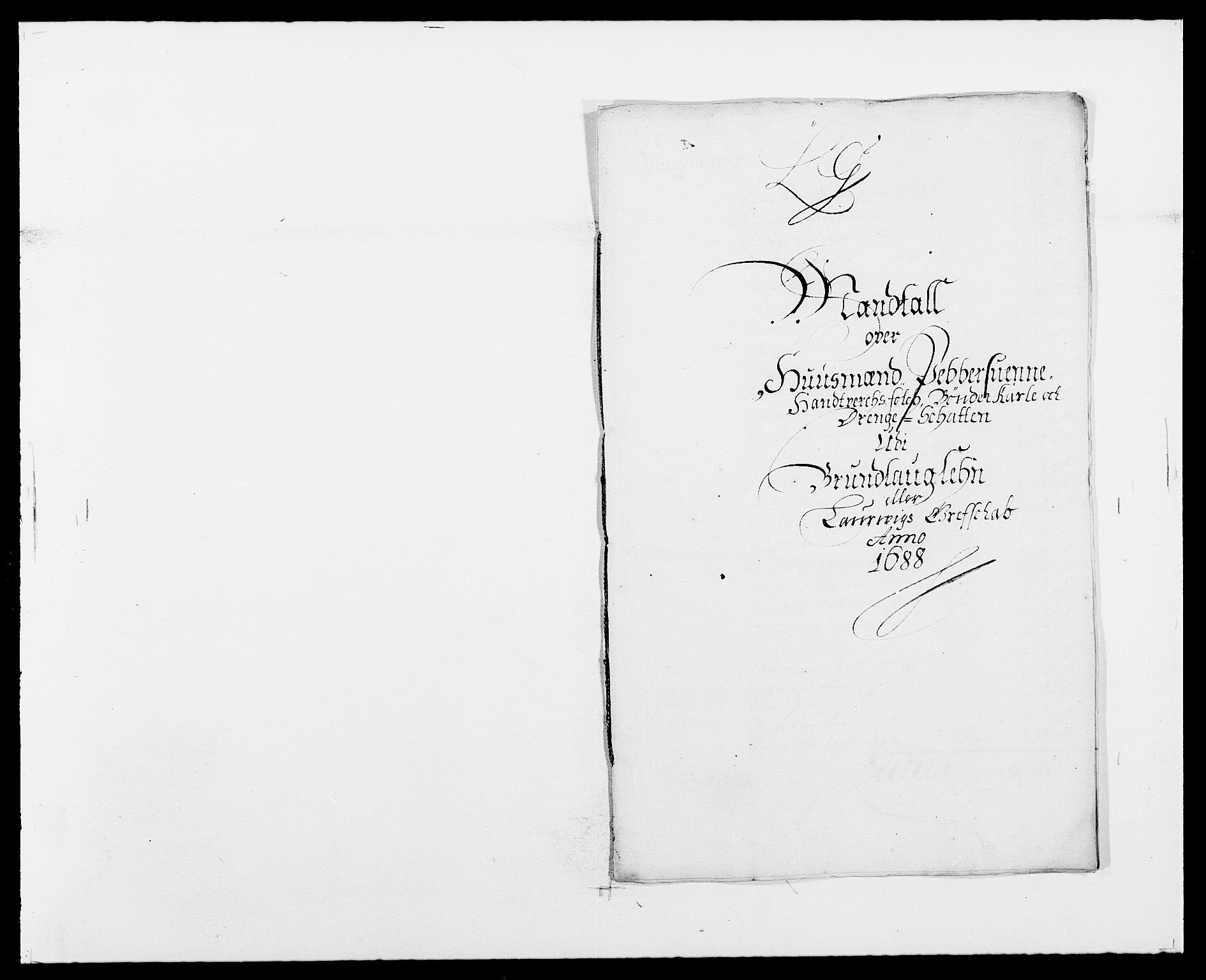 RA, Rentekammeret inntil 1814, Reviderte regnskaper, Fogderegnskap, R33/L1971: Fogderegnskap Larvik grevskap, 1688-1689, s. 128