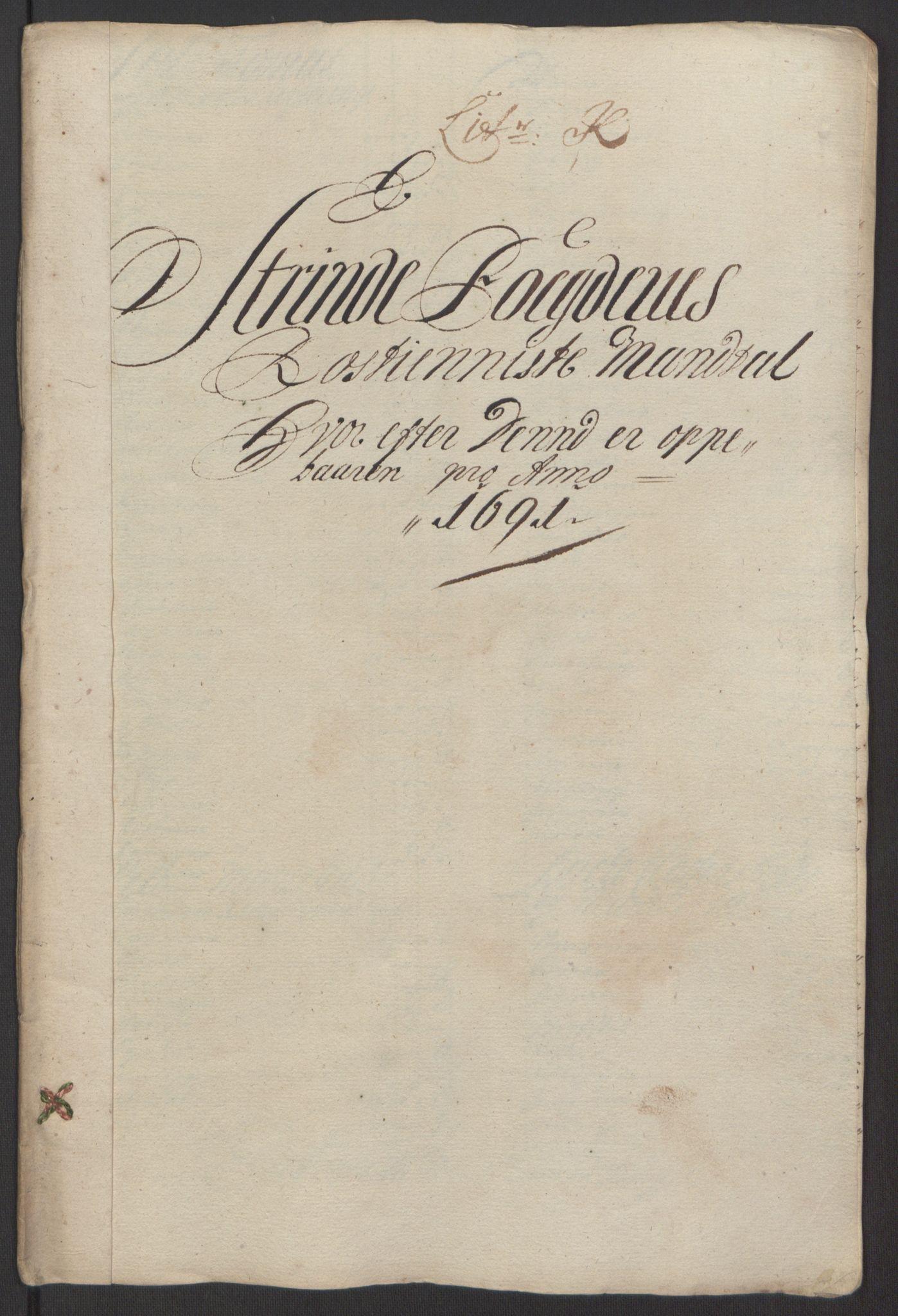 RA, Rentekammeret inntil 1814, Reviderte regnskaper, Fogderegnskap, R61/L4103: Fogderegnskap Strinda og Selbu, 1691-1692, s. 107