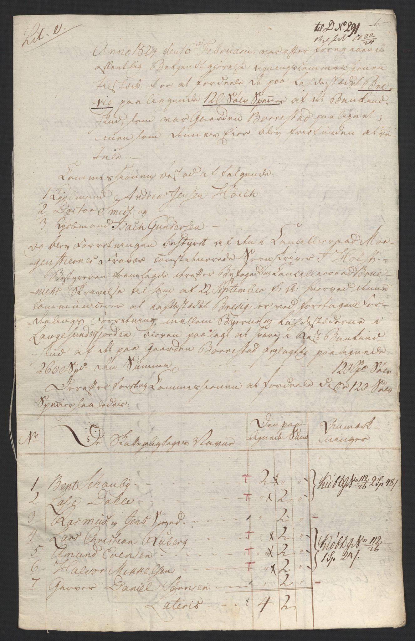 NOBA, Norges Bank/Sølvskatten 1816*, 1816-1824, s. 125