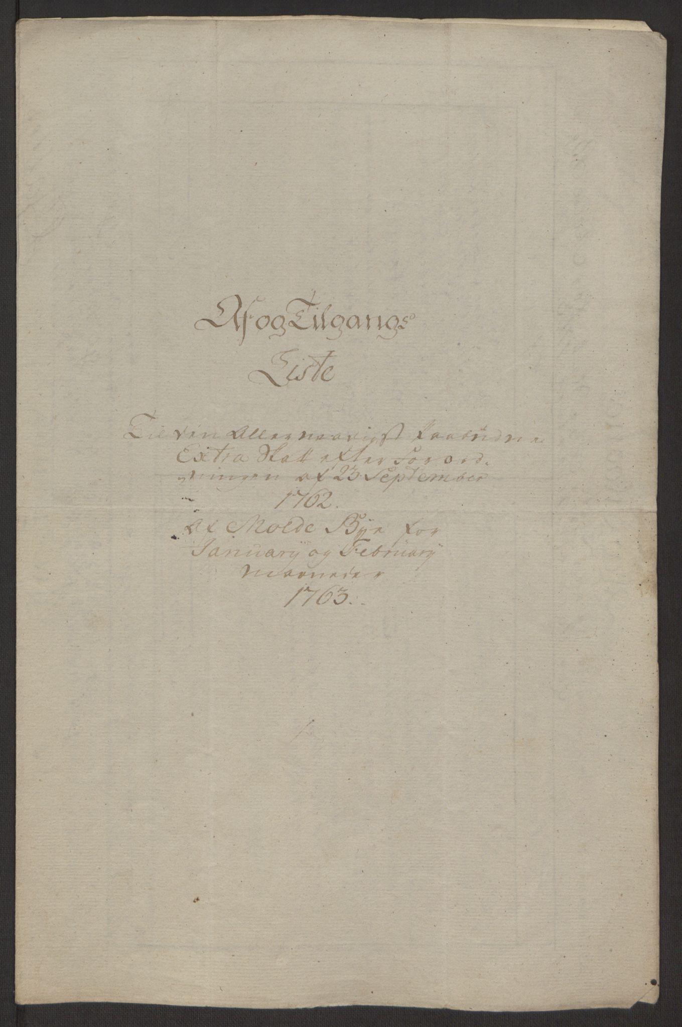 RA, Rentekammeret inntil 1814, Reviderte regnskaper, Byregnskaper, R/Rq/L0487: [Q1] Kontribusjonsregnskap, 1762-1772, s. 40