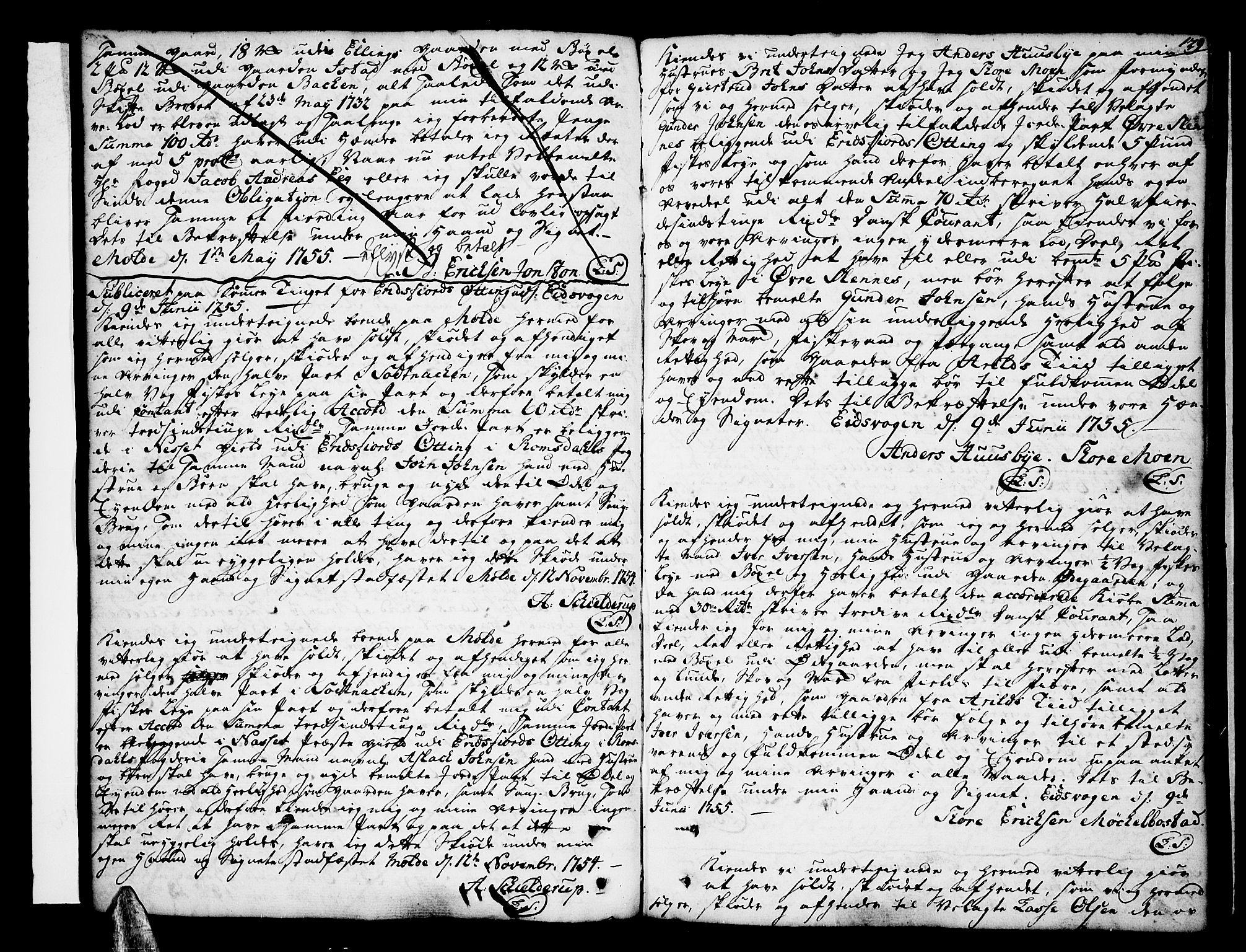 SAT, Romsdal sorenskriveri, 2/2C/L0003: Pantebok nr. 3, 1747-1767, s. 129