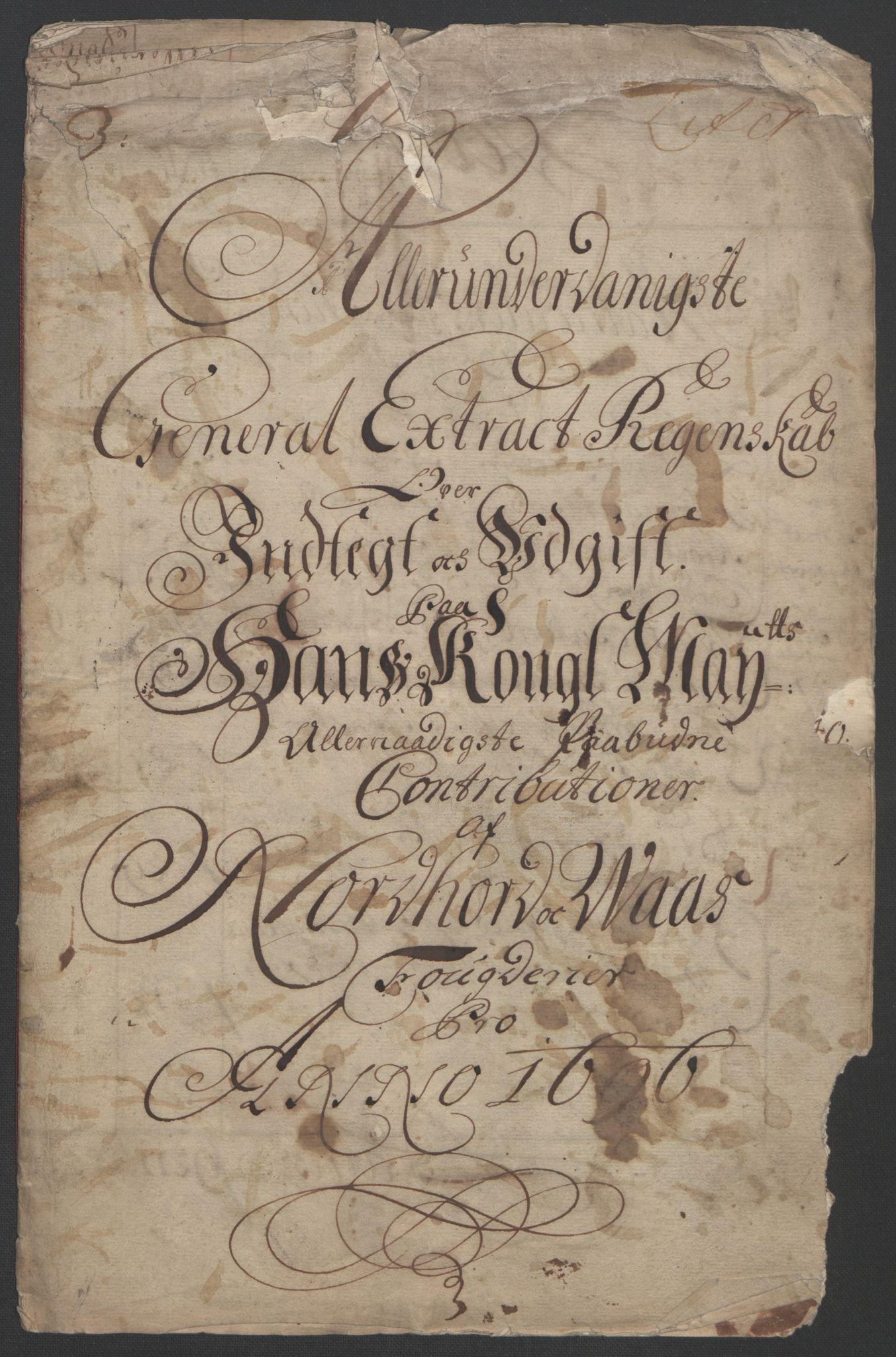 RA, Rentekammeret inntil 1814, Reviderte regnskaper, Fogderegnskap, R51/L3183: Fogderegnskap Nordhordland og Voss, 1695-1697, s. 137