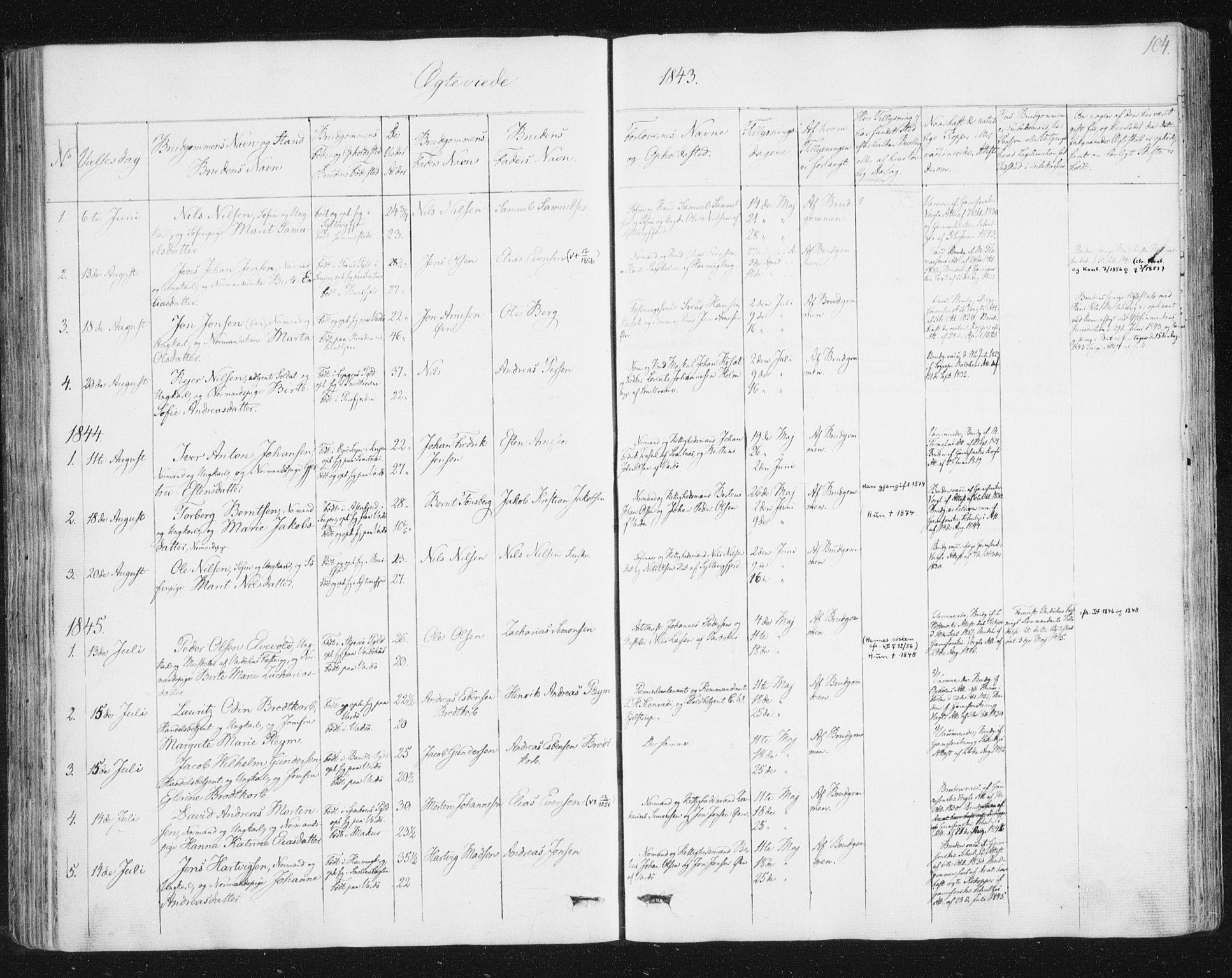 SATØ, Vardø sokneprestkontor, H/Ha/L0003kirke: Ministerialbok nr. 3, 1843-1861, s. 104
