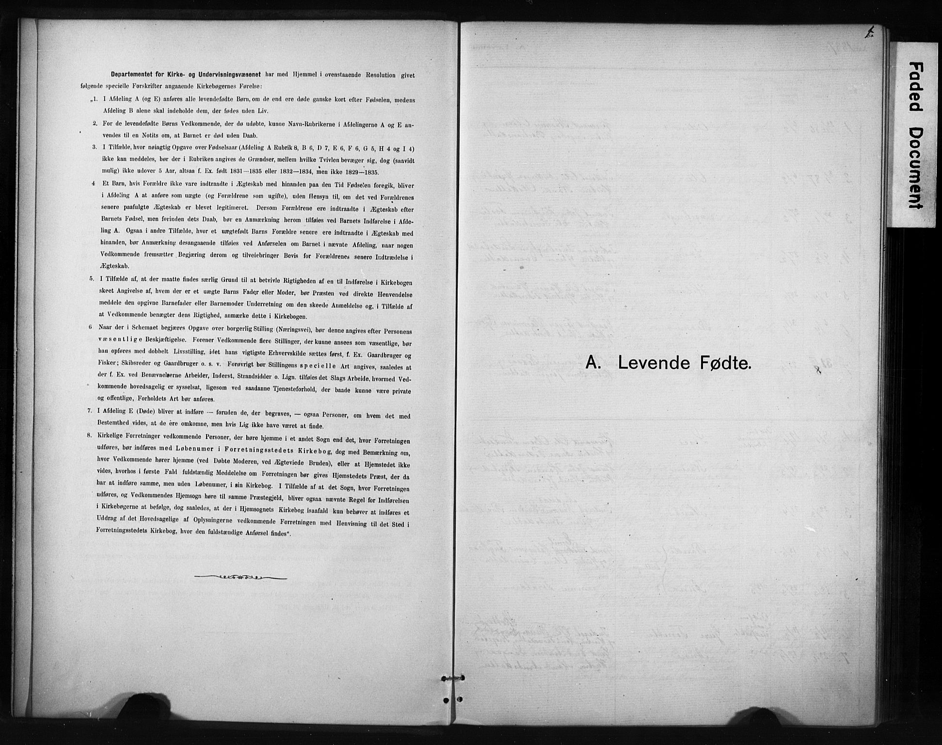 SAT, Ministerialprotokoller, klokkerbøker og fødselsregistre - Sør-Trøndelag, 694/L1127: Ministerialbok nr. 694A01, 1887-1905, s. 1