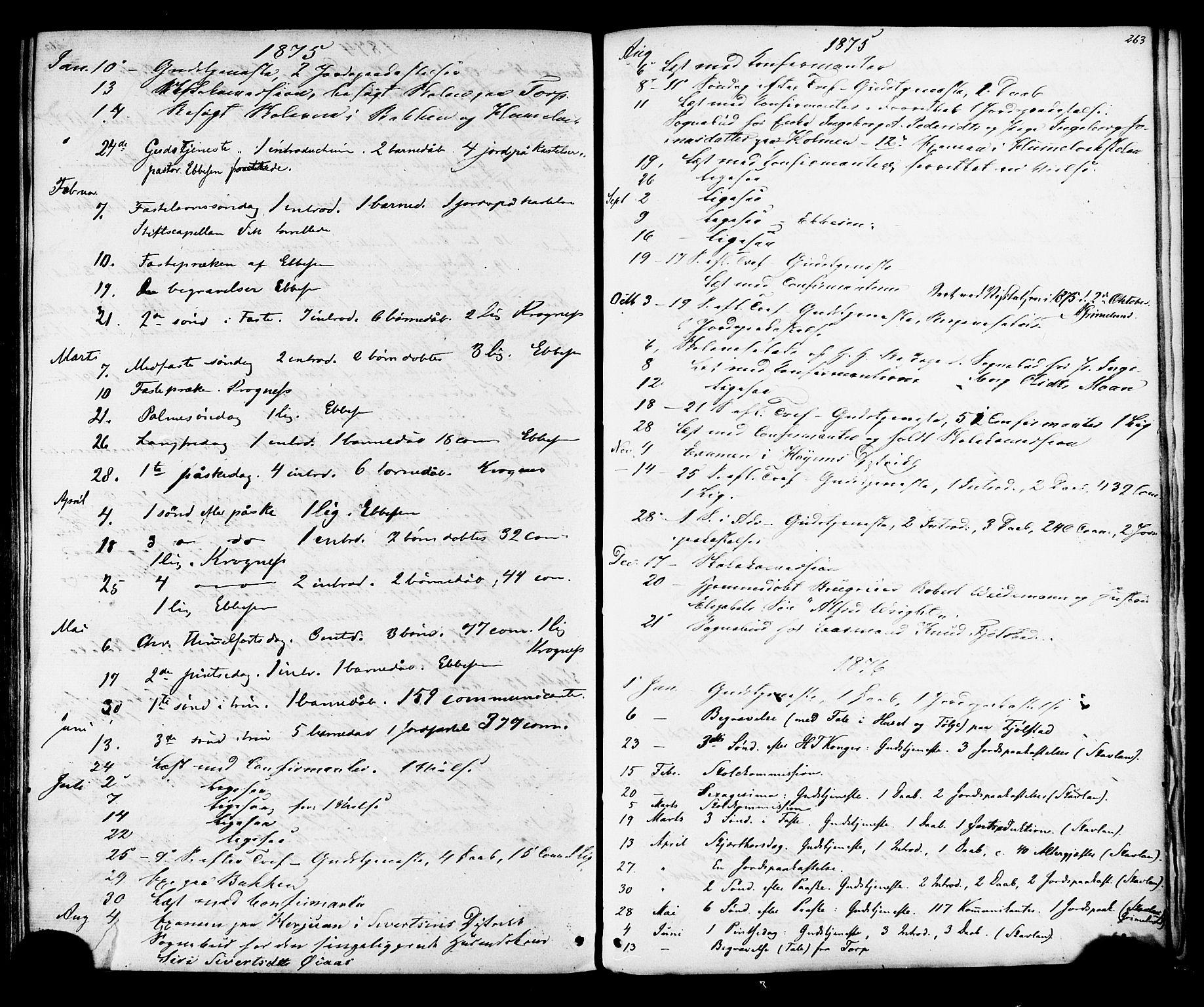 SAT, Ministerialprotokoller, klokkerbøker og fødselsregistre - Sør-Trøndelag, 616/L0409: Ministerialbok nr. 616A06, 1865-1877, s. 263