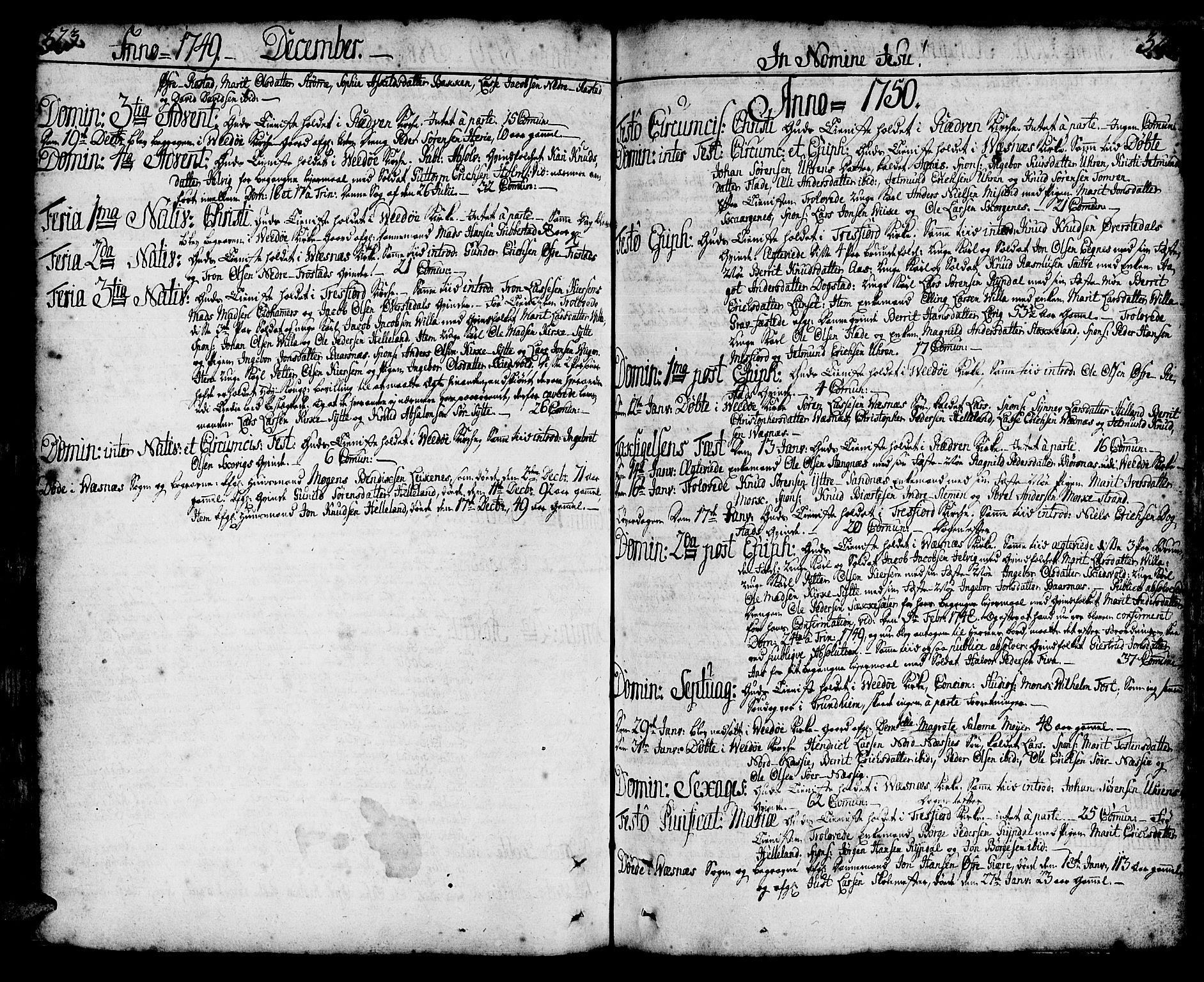 SAT, Ministerialprotokoller, klokkerbøker og fødselsregistre - Møre og Romsdal, 547/L0599: Ministerialbok nr. 547A01, 1721-1764, s. 324-325