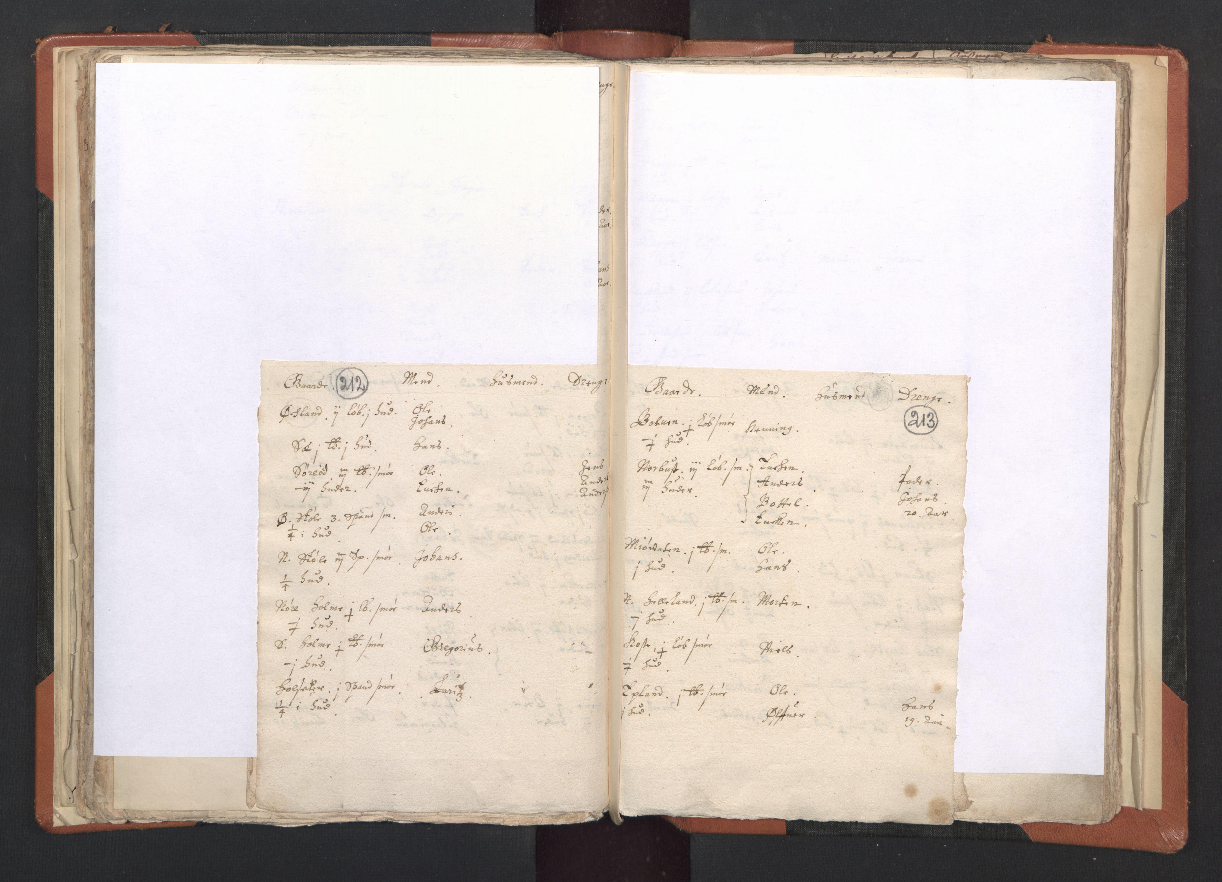RA, Sogneprestenes manntall 1664-1666, nr. 20: Sunnhordland prosti, 1664-1666, s. 212-213