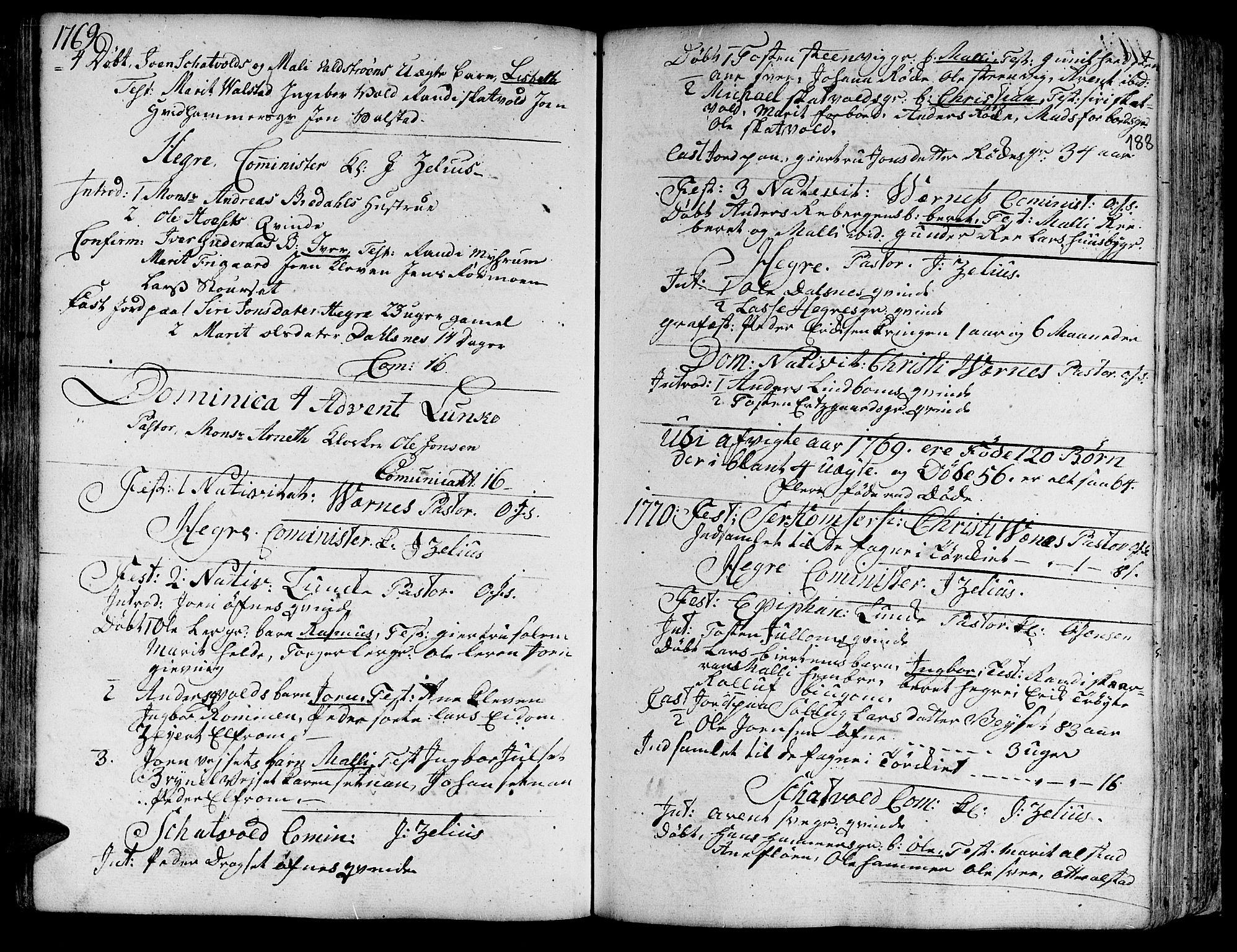 SAT, Ministerialprotokoller, klokkerbøker og fødselsregistre - Nord-Trøndelag, 709/L0057: Ministerialbok nr. 709A05, 1755-1780, s. 188