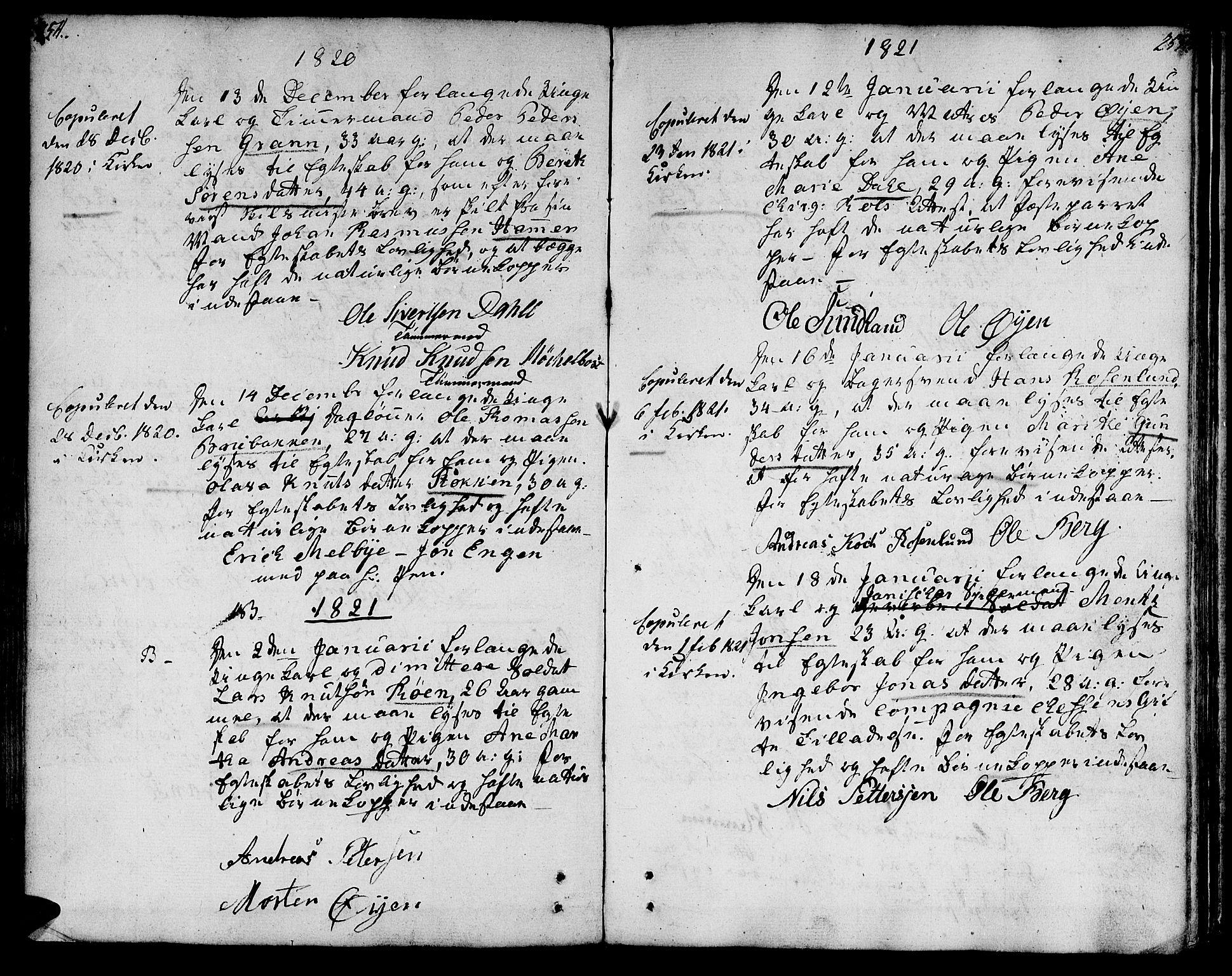 SAT, Ministerialprotokoller, klokkerbøker og fødselsregistre - Sør-Trøndelag, 601/L0042: Ministerialbok nr. 601A10, 1802-1830, s. 254-255
