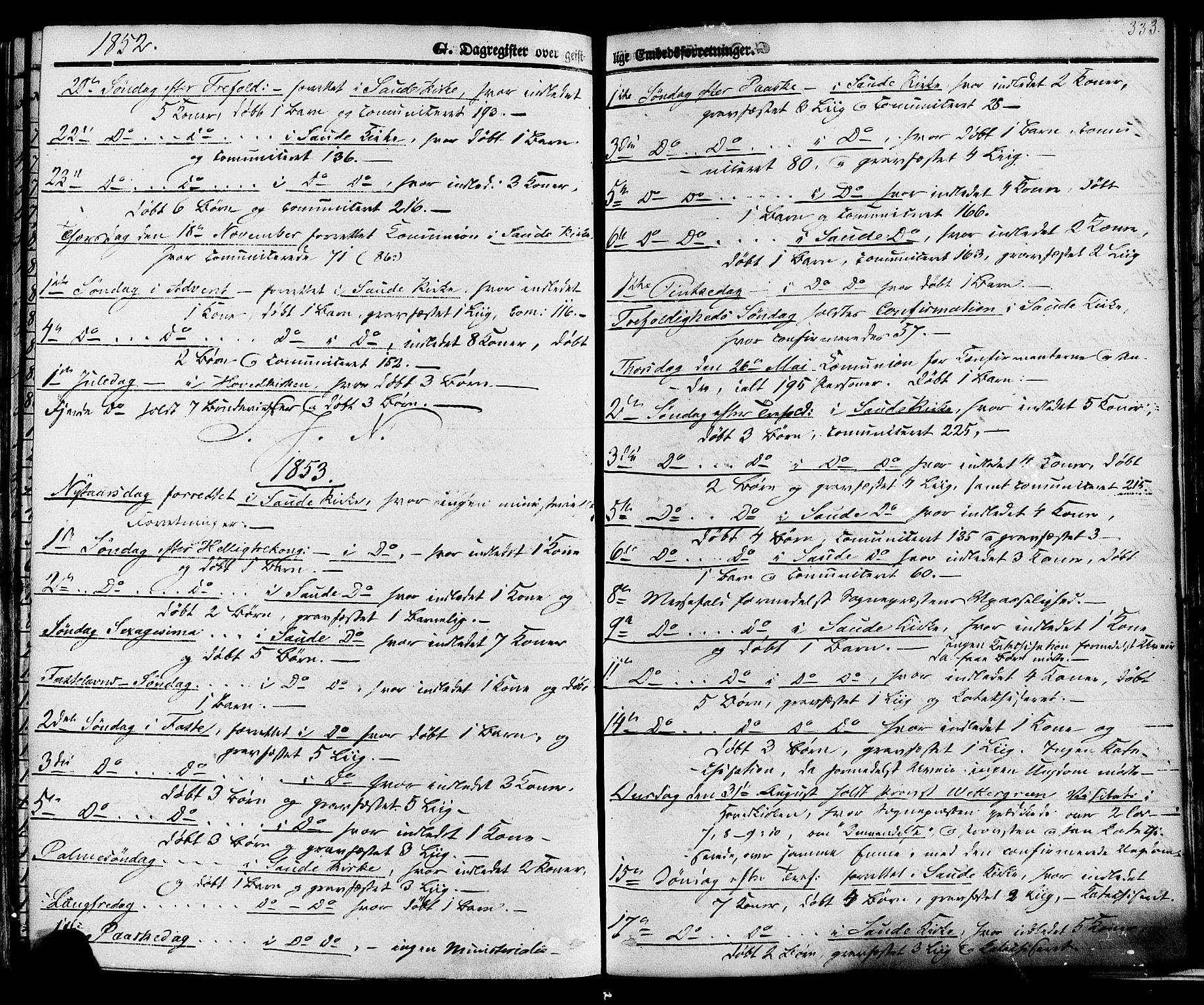 SAKO, Sauherad kirkebøker, F/Fa/L0007: Ministerialbok nr. I 7, 1851-1873, s. 333
