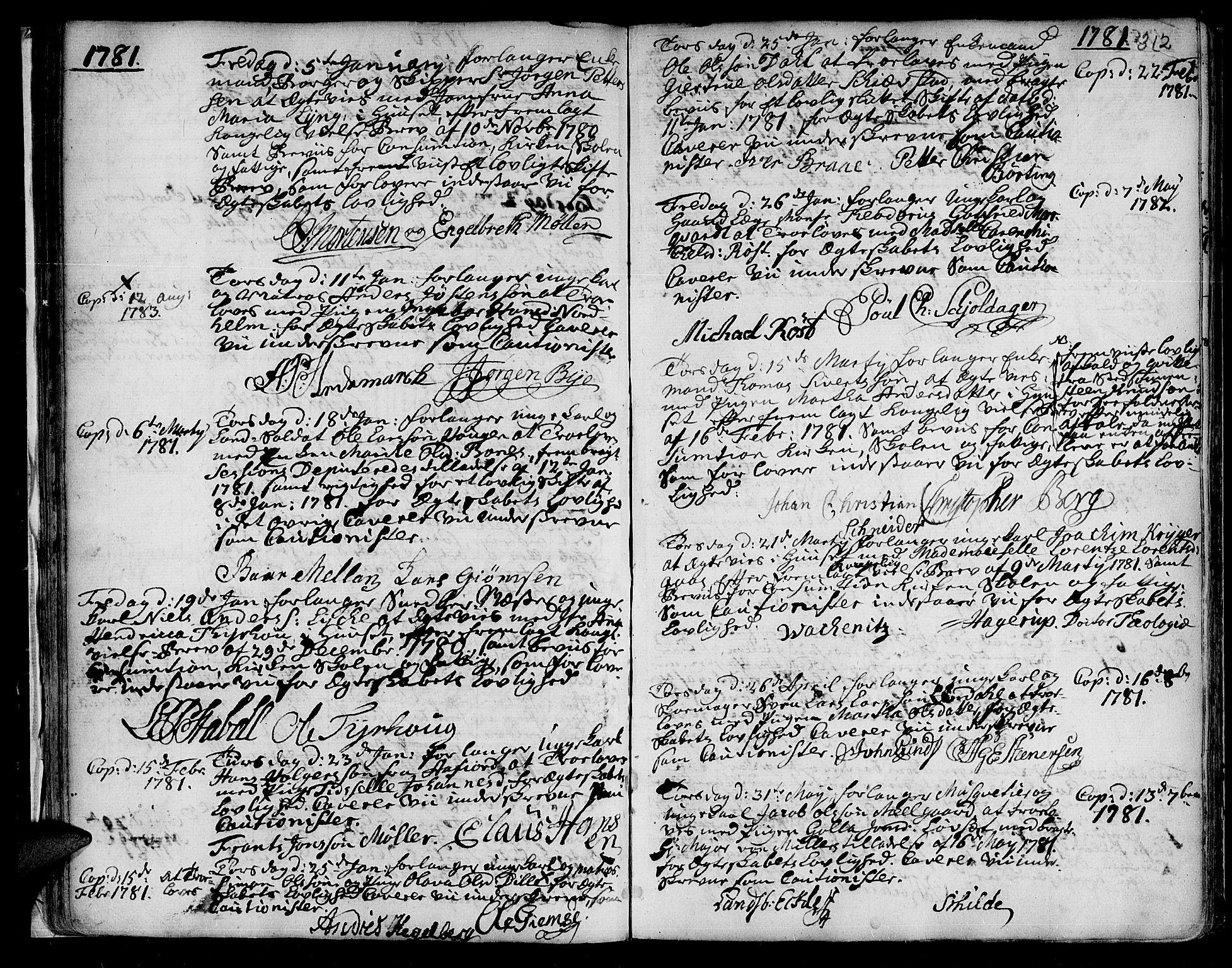 SAT, Ministerialprotokoller, klokkerbøker og fødselsregistre - Sør-Trøndelag, 601/L0038: Ministerialbok nr. 601A06, 1766-1877, s. 312