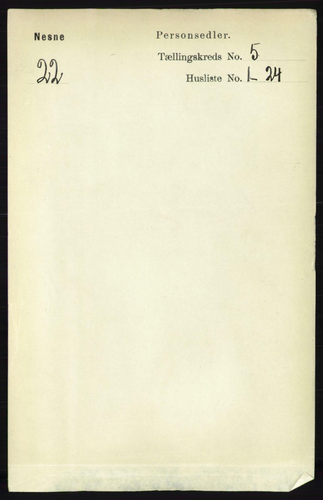 RA, Folketelling 1891 for 1828 Nesna herred, 1891, s. 2779