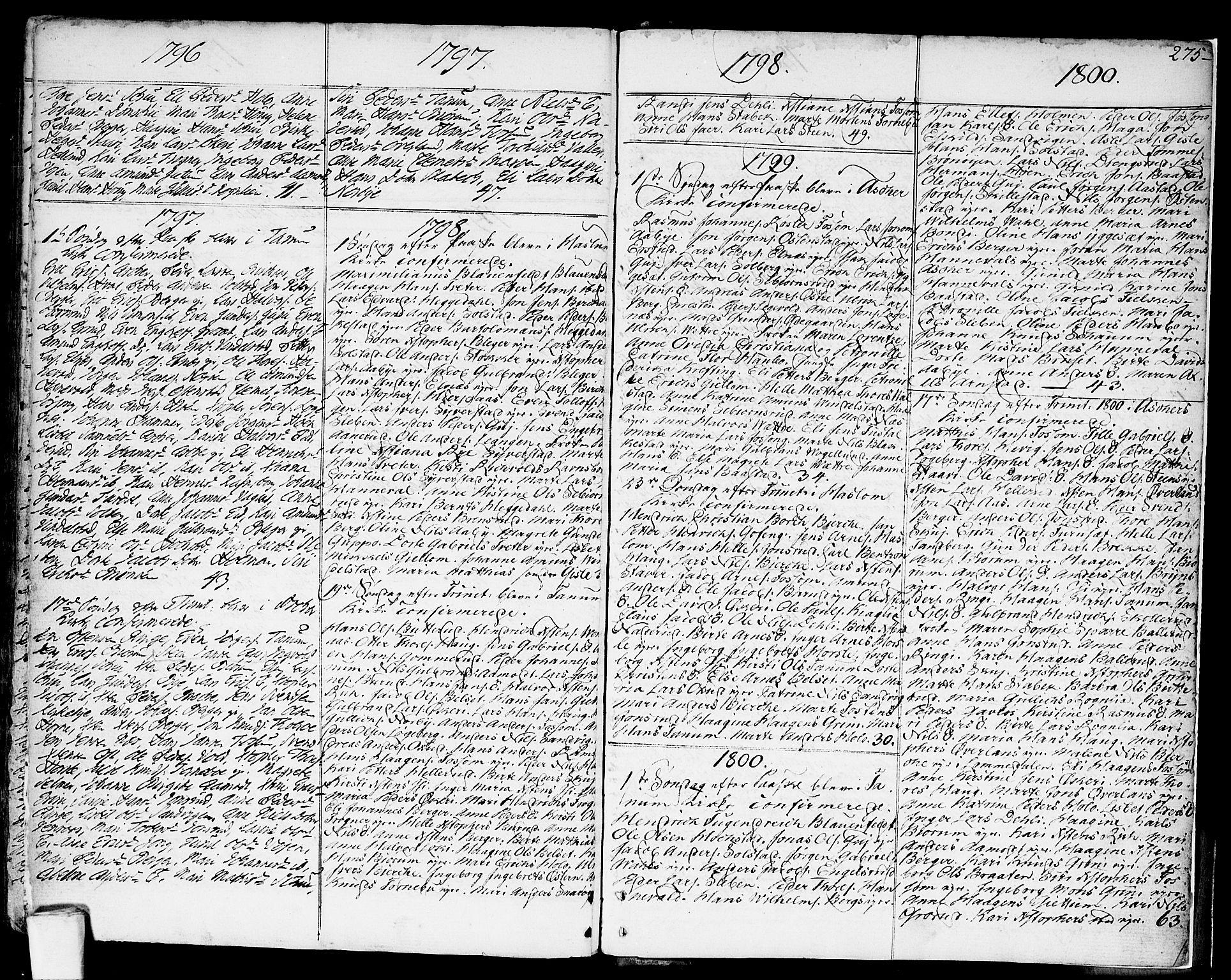 SAO, Asker prestekontor Kirkebøker, F/Fa/L0003: Ministerialbok nr. I 3, 1767-1807, s. 275