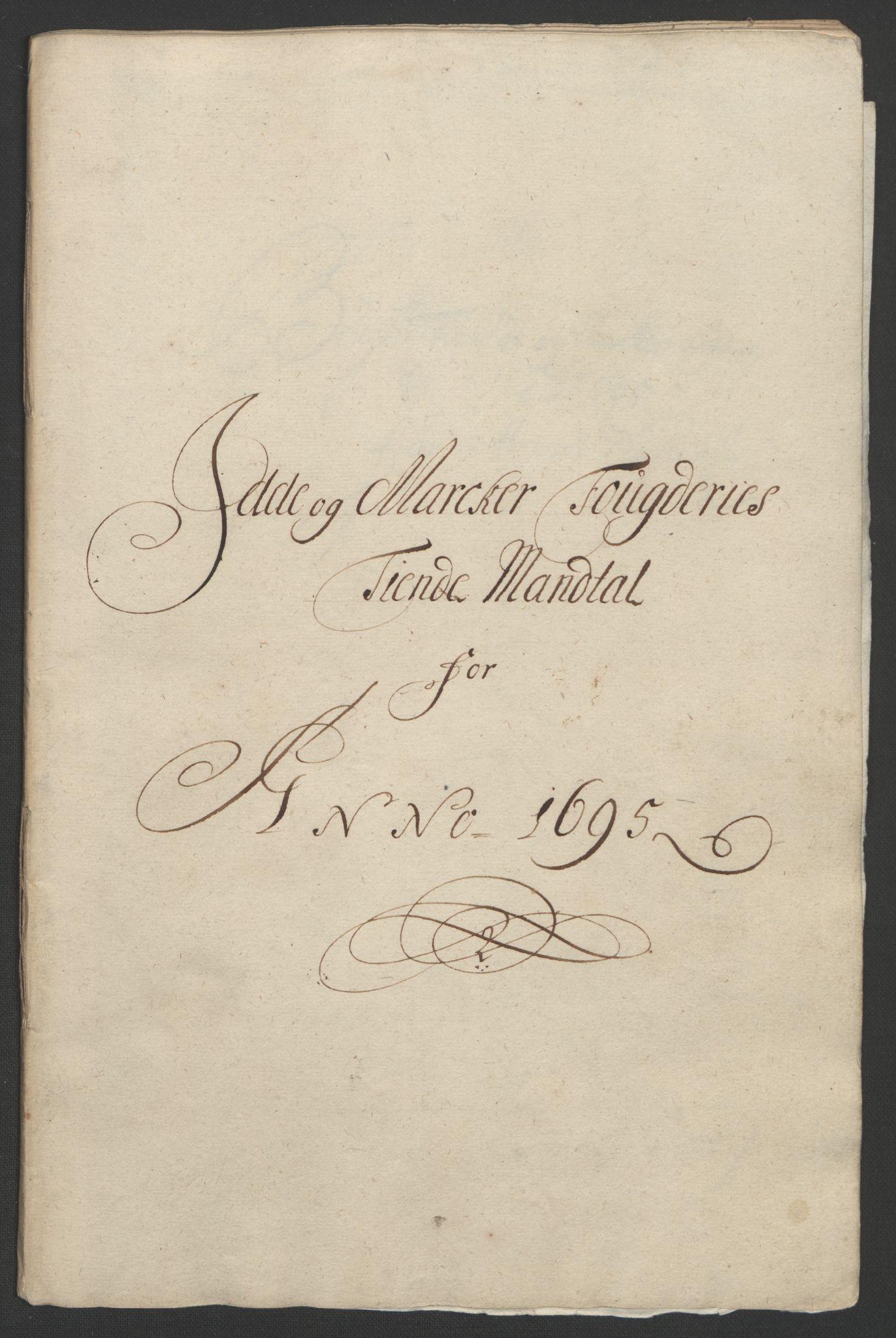 RA, Rentekammeret inntil 1814, Reviderte regnskaper, Fogderegnskap, R01/L0012: Fogderegnskap Idd og Marker, 1694-1695, s. 204