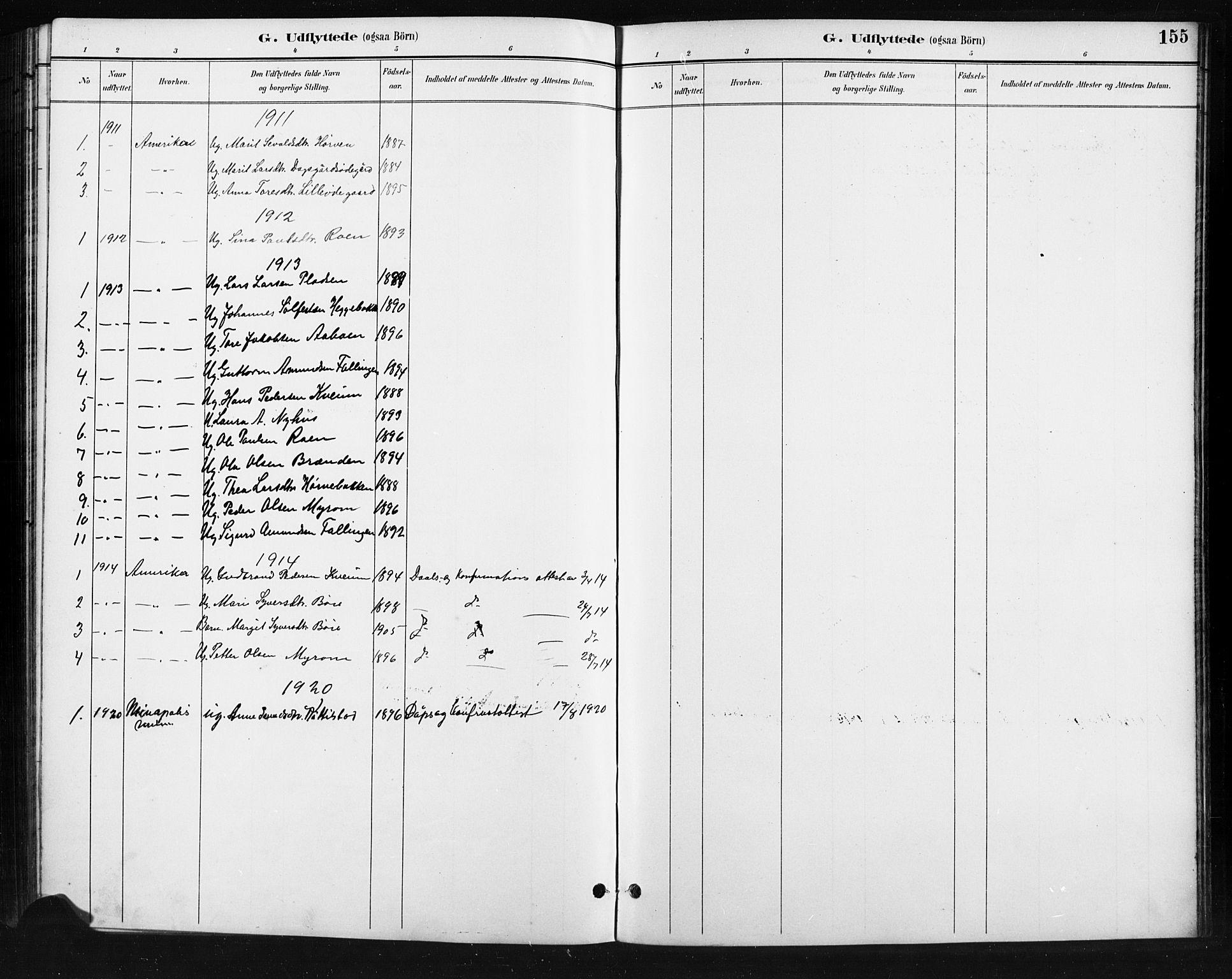 SAH, Skjåk prestekontor, Klokkerbok nr. 4, 1895-1921, s. 155
