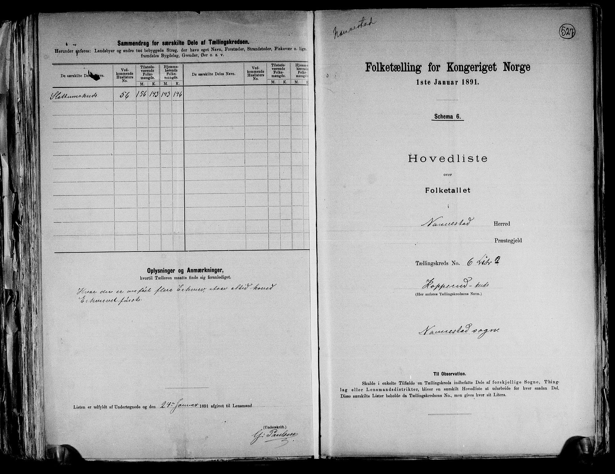 RA, Folketelling 1891 for 0238 Nannestad herred, 1891, s. 21