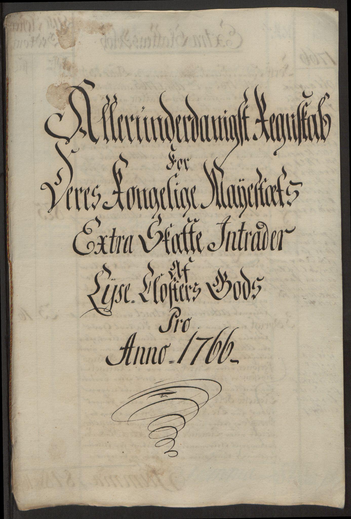 RA, Rentekammeret inntil 1814, Reviderte regnskaper, Fogderegnskap, R50/L3180: Ekstraskatten Lyse kloster, 1762-1783, s. 148