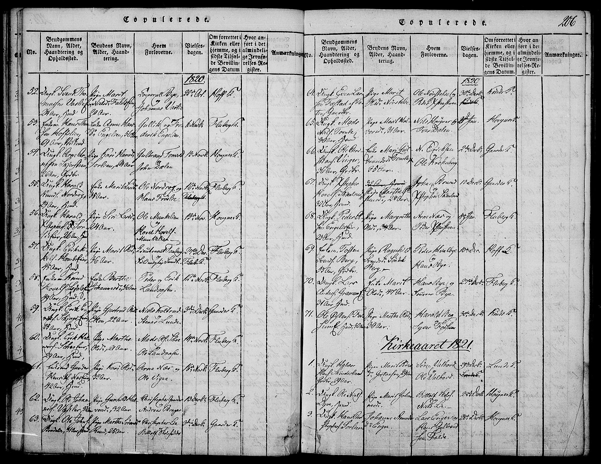 SAH, Land prestekontor, Ministerialbok nr. 7, 1814-1830, s. 206