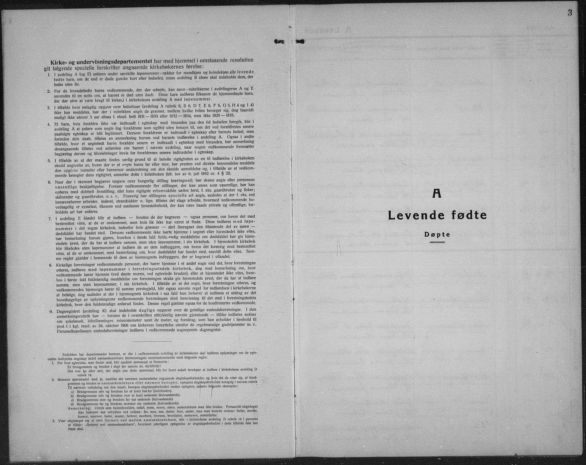 SAH, Sel prestekontor, Klokkerbok nr. 2, 1923-1939, s. 3