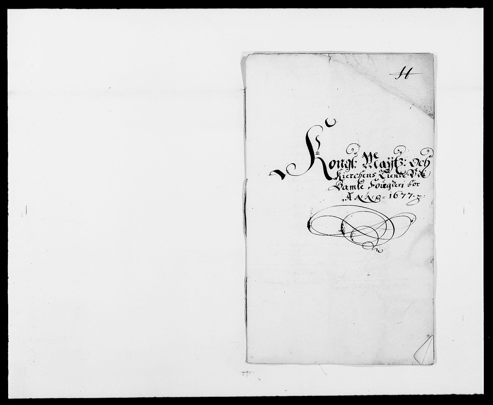 RA, Rentekammeret inntil 1814, Reviderte regnskaper, Fogderegnskap, R34/L2043: Fogderegnskap Bamble, 1676-1677, s. 448