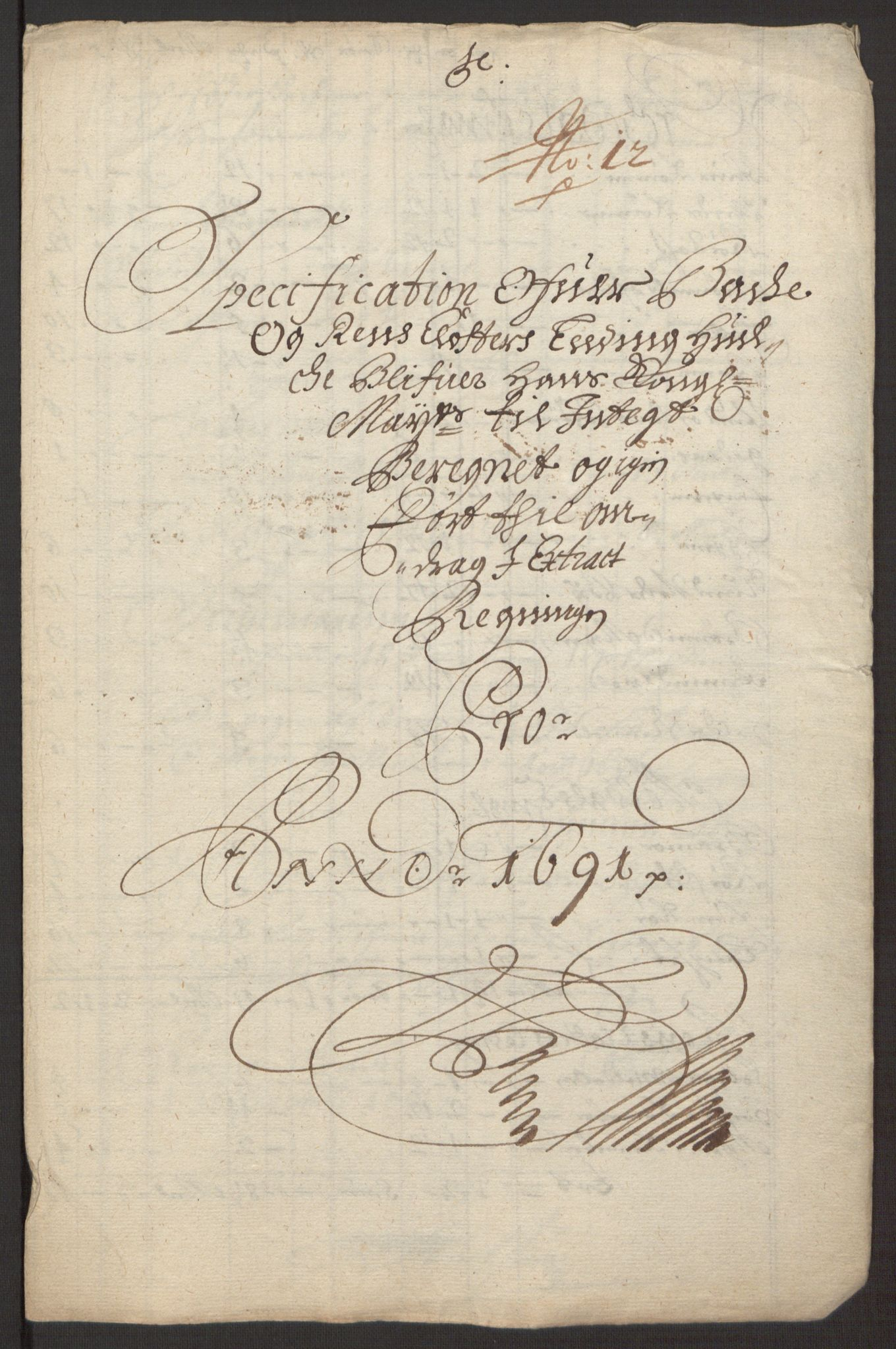 RA, Rentekammeret inntil 1814, Reviderte regnskaper, Fogderegnskap, R58/L3937: Fogderegnskap Orkdal, 1691-1692, s. 168