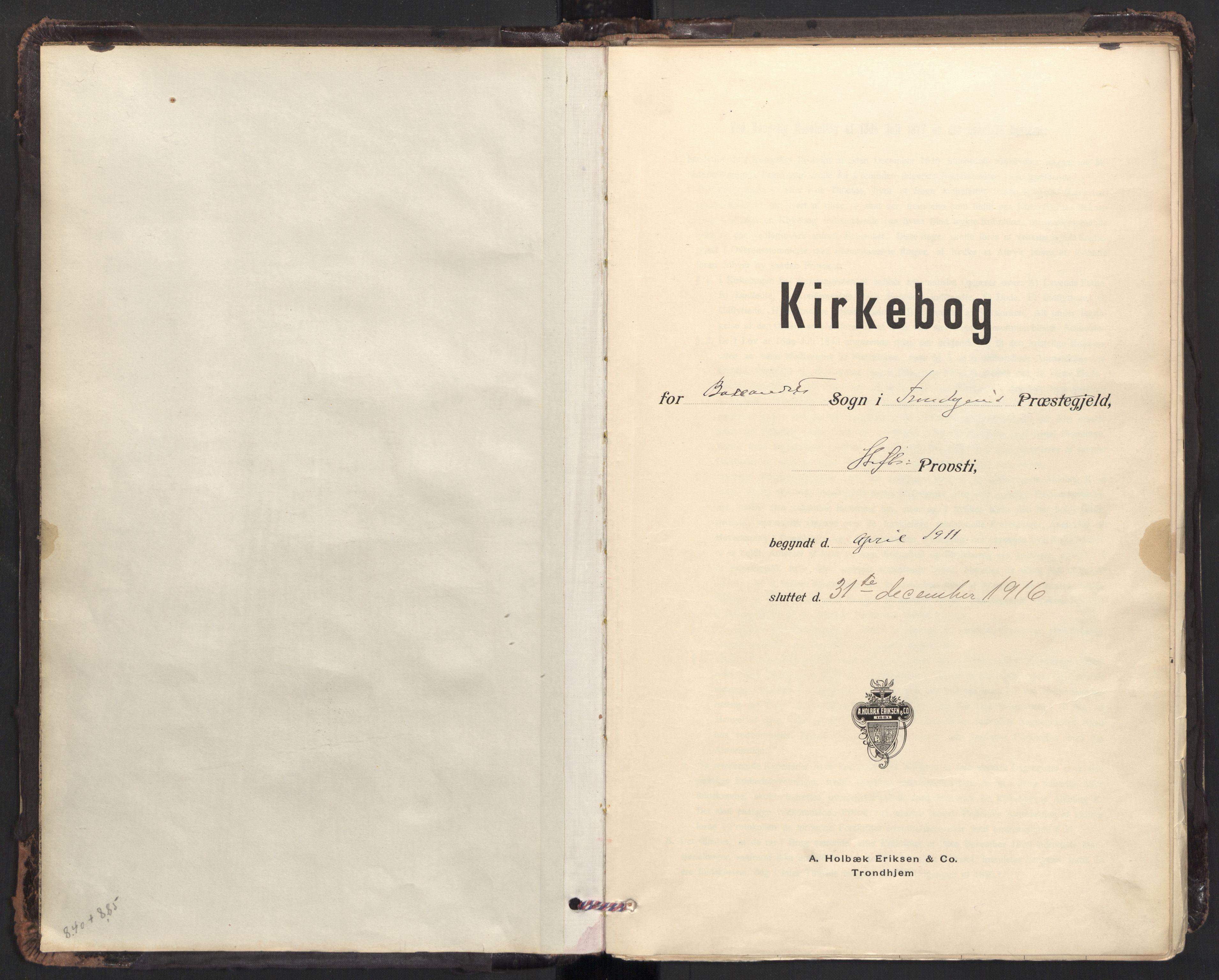 SAT, Ministerialprotokoller, klokkerbøker og fødselsregistre - Sør-Trøndelag, 604/L0204: Ministerialbok nr. 604A24, 1911-1920