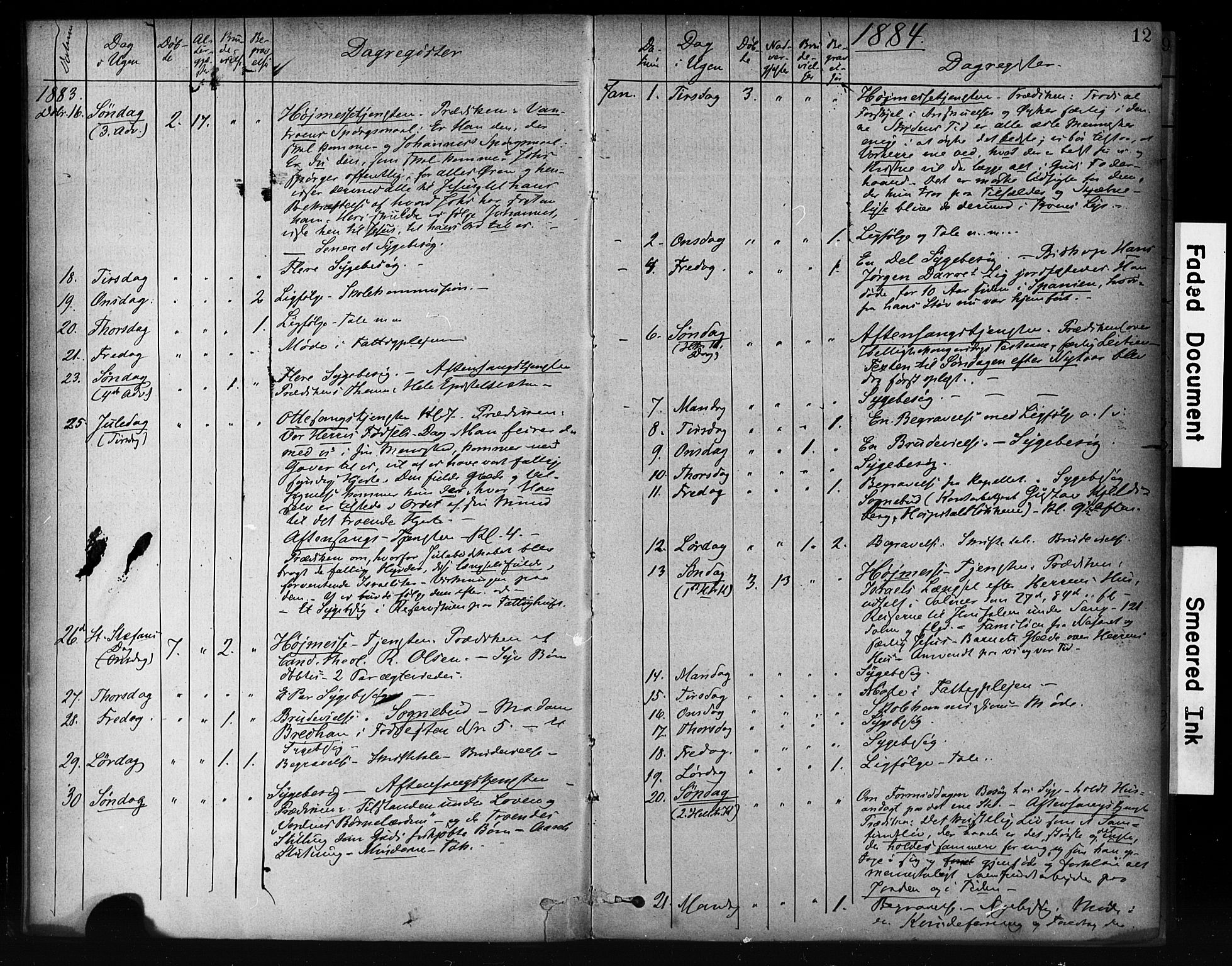 SAT, Ministerialprotokoller, klokkerbøker og fødselsregistre - Sør-Trøndelag, 601/L0071: Residerende kapellans bok nr. 601B04, 1882-1931, s. 12