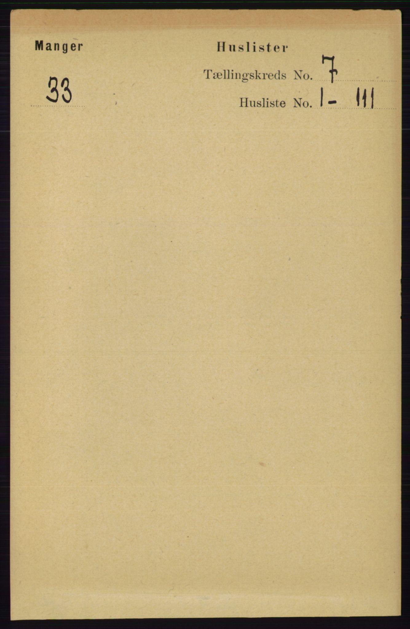 RA, Folketelling 1891 for 1261 Manger herred, 1891, s. 4246